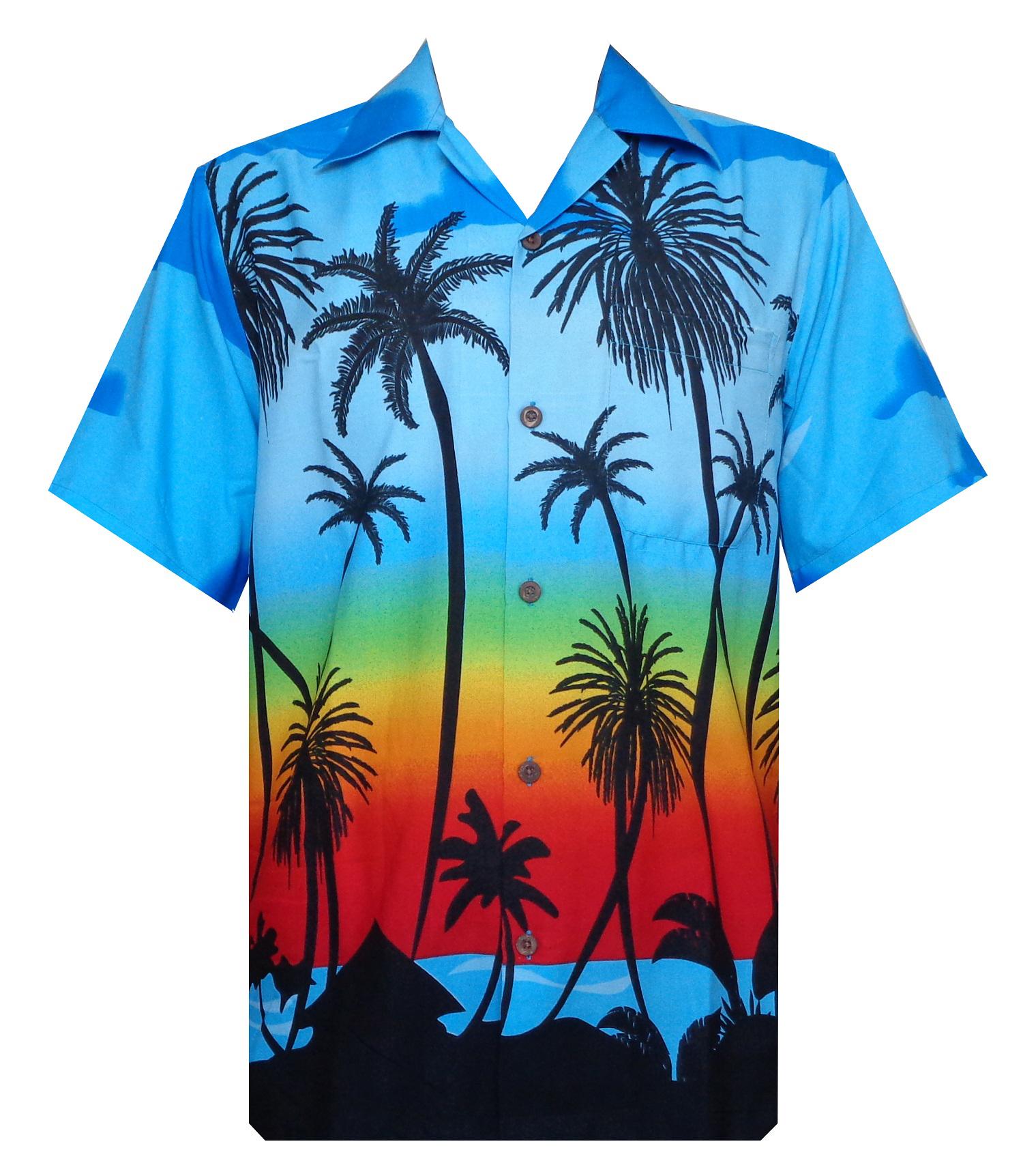 Hawaiian Shirt 5 Mens Allover Coconut Tree Print Beach ...