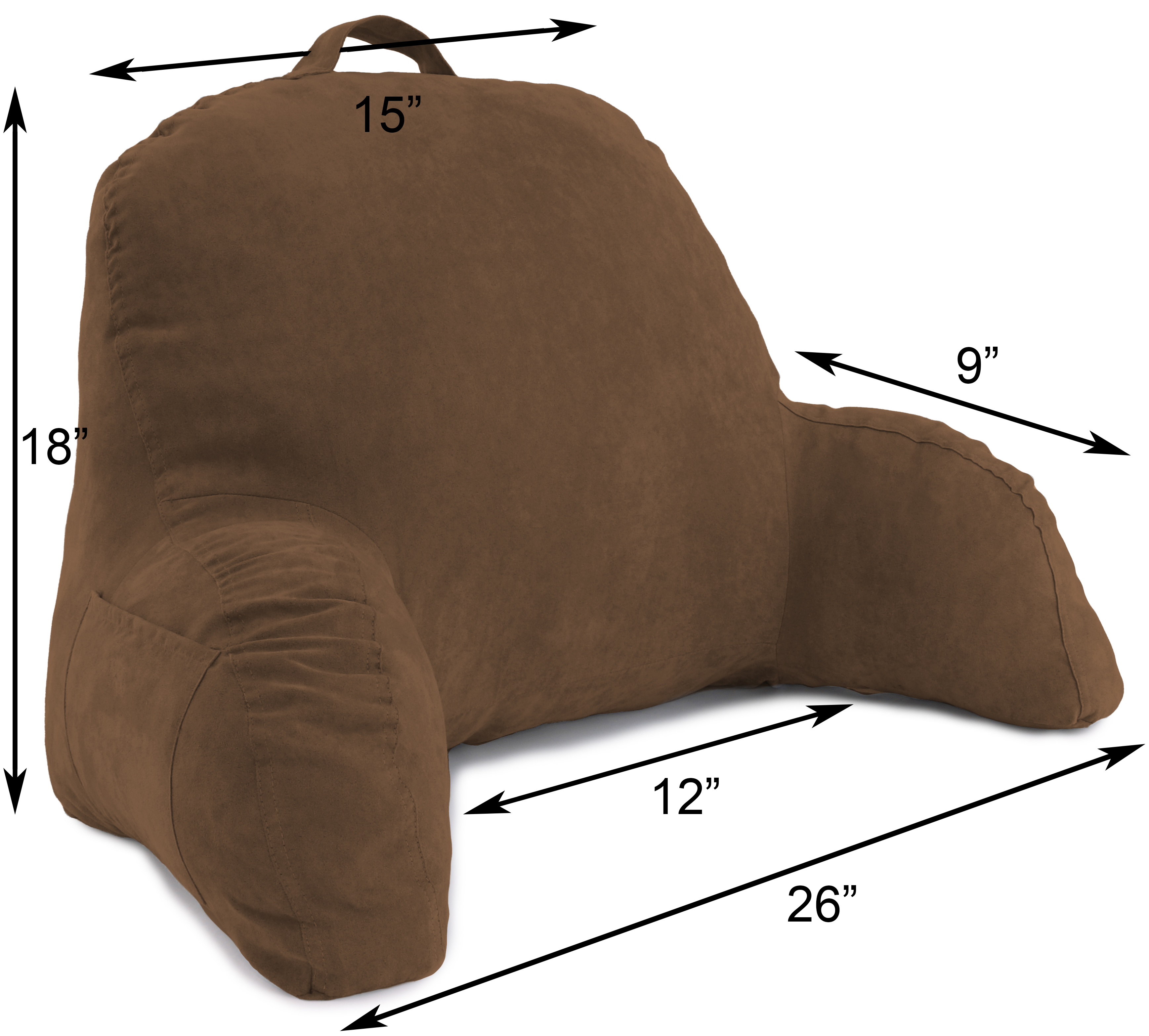 Microsuede-Bed-Rest-Reading-and-Bed-Rest-Lounger-Bed-Pillow thumbnail 9