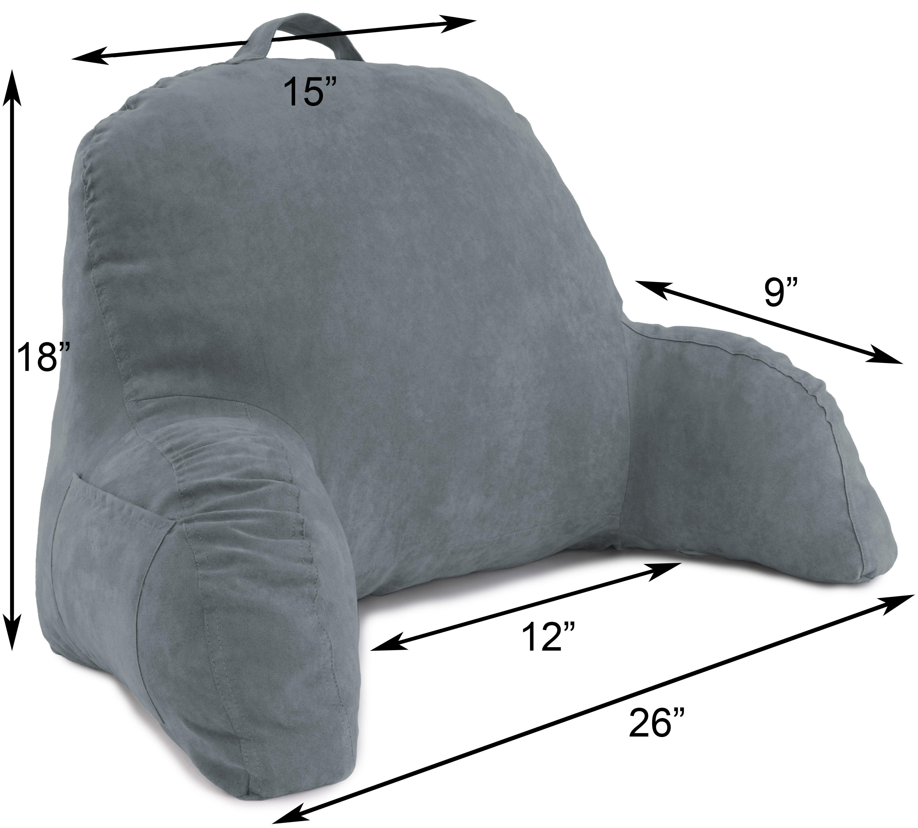 Microsuede-Bed-Rest-Reading-and-Bed-Rest-Lounger-Bed-Pillow thumbnail 13