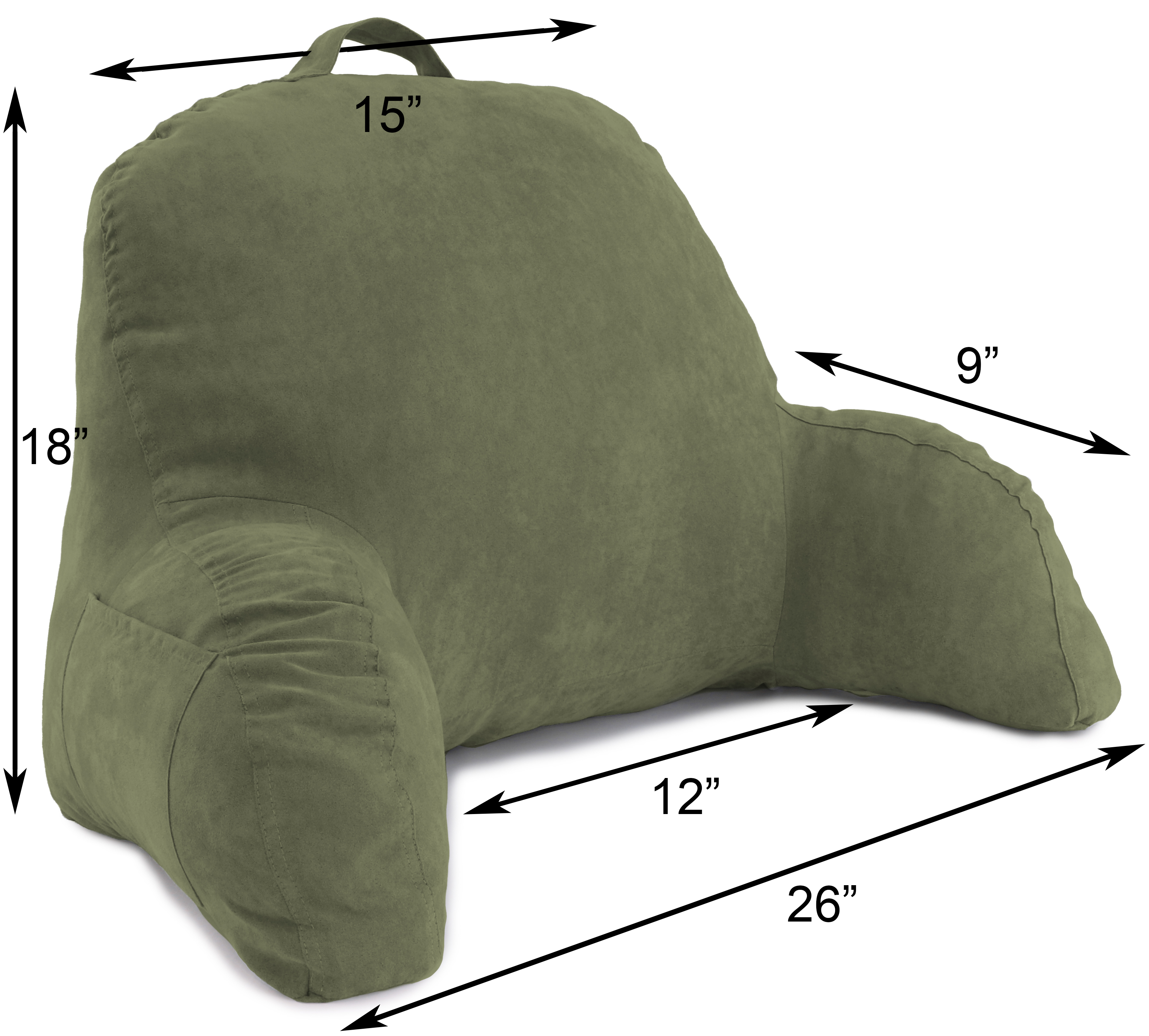 Microsuede-Bed-Rest-Reading-and-Bed-Rest-Lounger-Bed-Pillow thumbnail 20