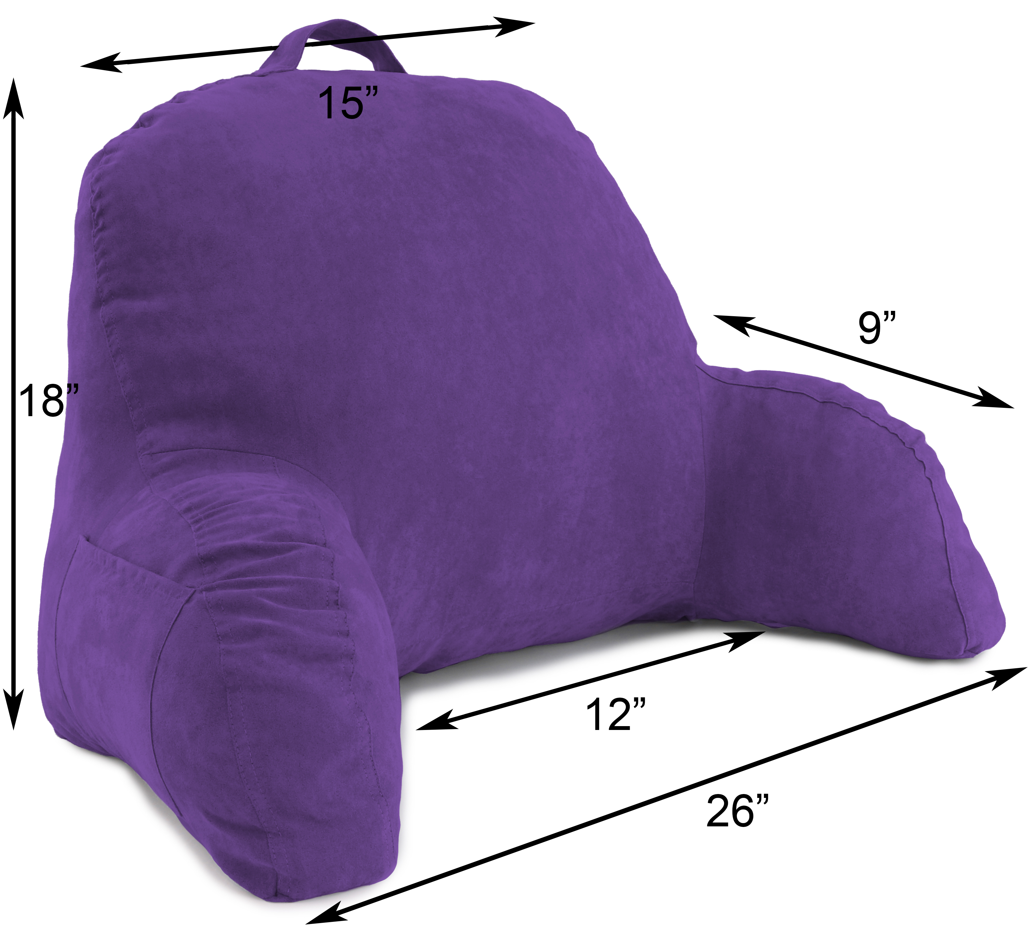 Microsuede-Bed-Rest-Reading-and-Bed-Rest-Lounger-Bed-Pillow thumbnail 28