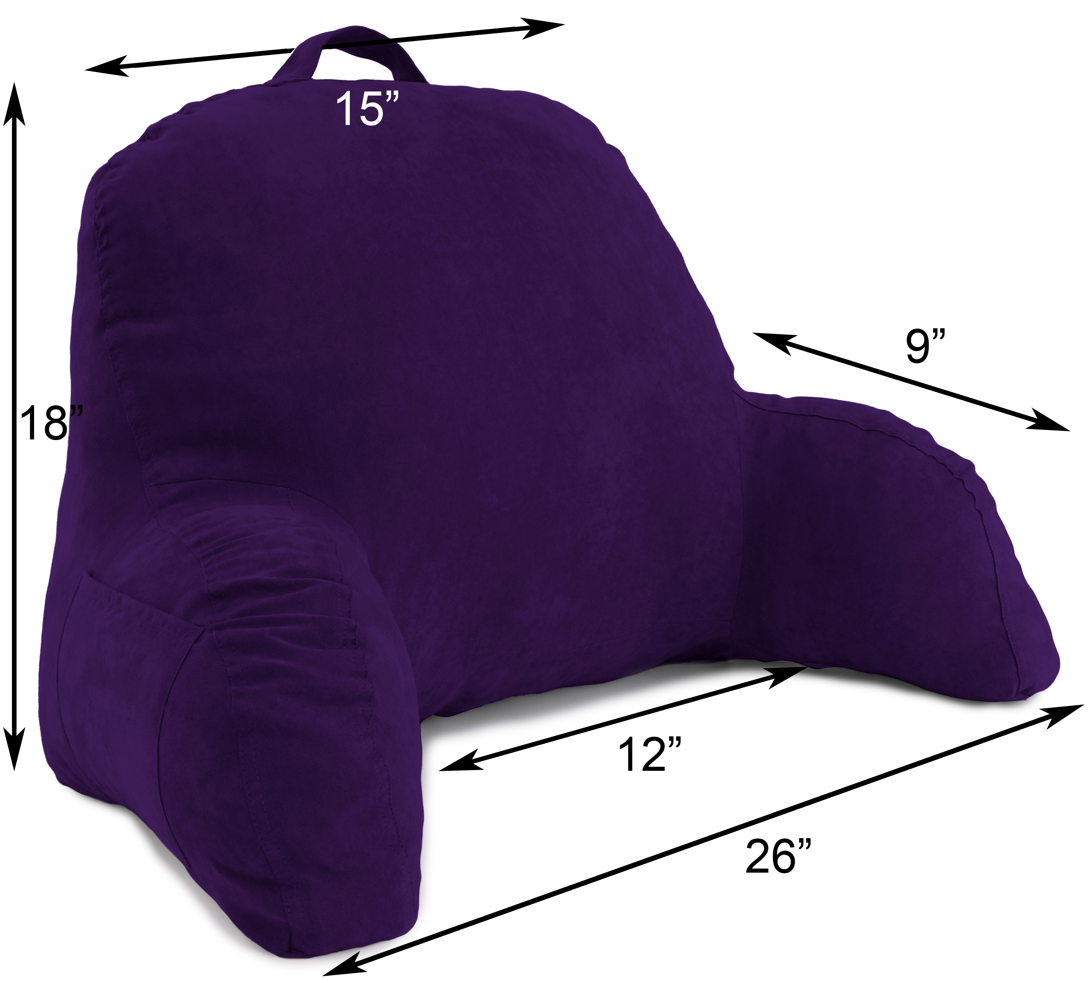 Microsuede-Bed-Rest-Reading-and-Bed-Rest-Lounger-Bed-Pillow thumbnail 36