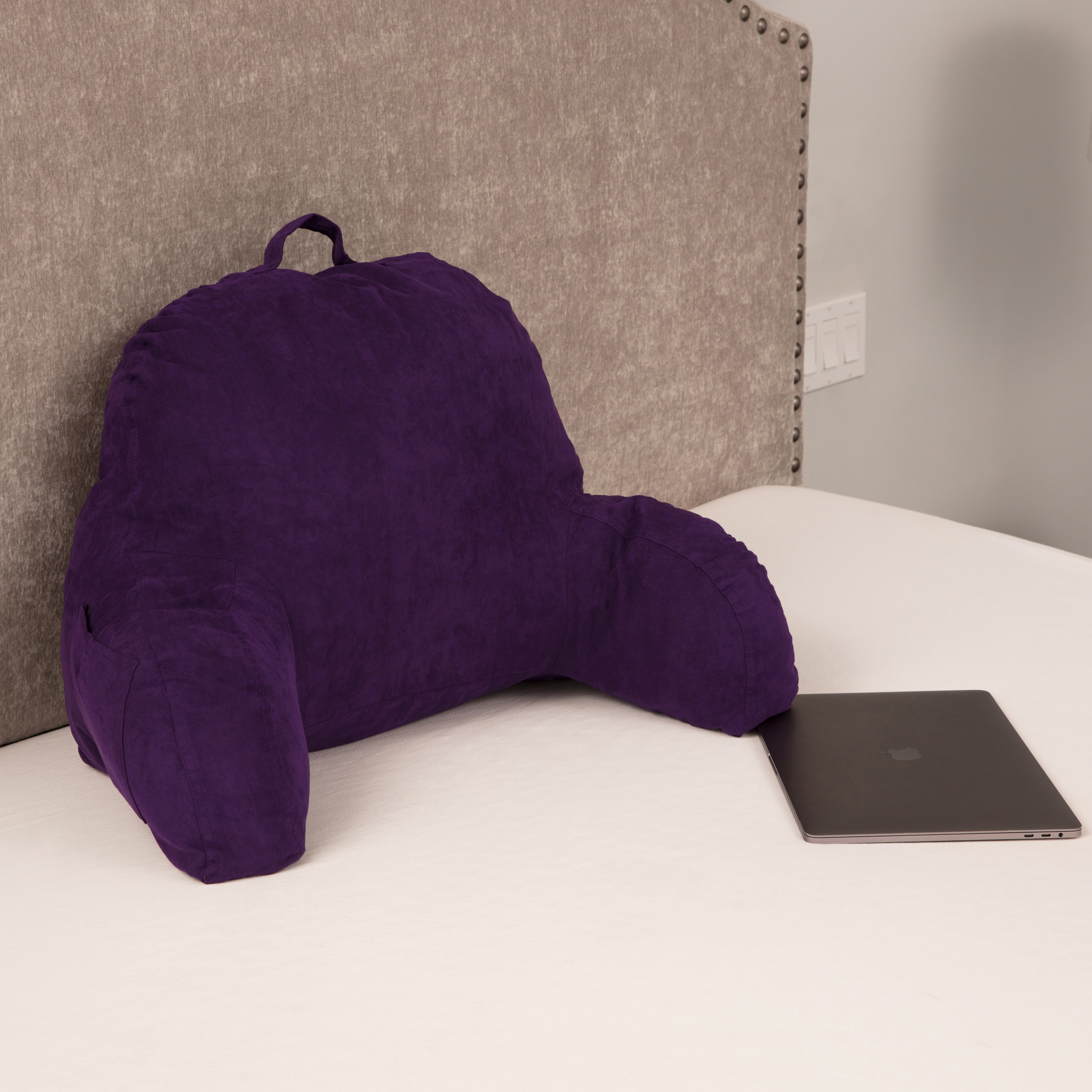 Microsuede-Bed-Rest-Reading-and-Bed-Rest-Lounger-Bed-Pillow thumbnail 38