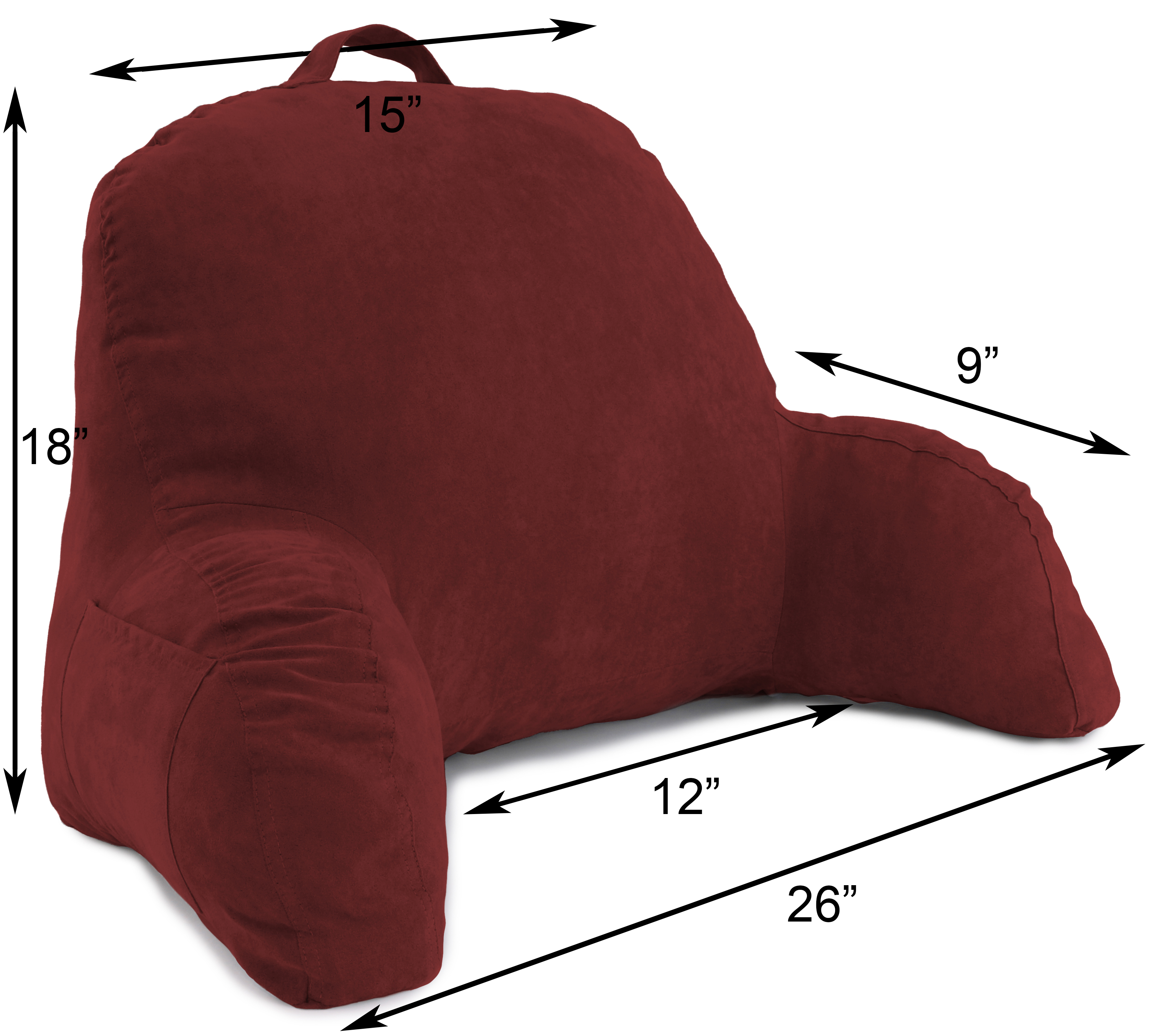 Microsuede-Bed-Rest-Reading-and-Bed-Rest-Lounger-Bed-Pillow thumbnail 42