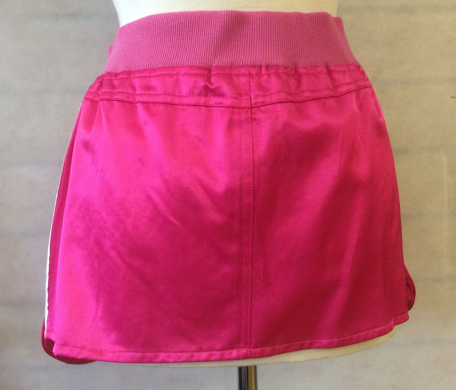 e084b7f04 Cerise Pink Satin Look Ladies Mini Skirt Size's 12 & 14 | eBay