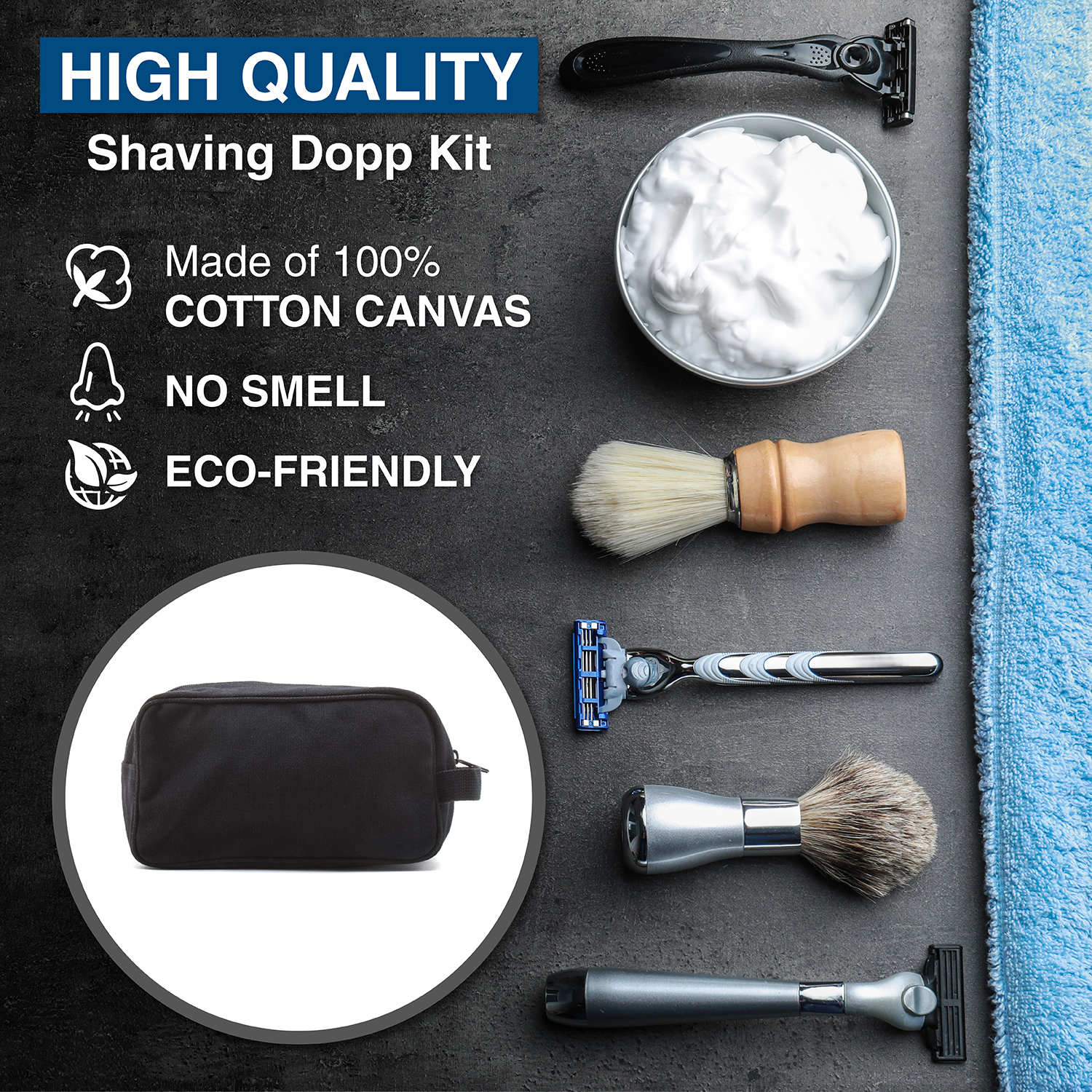 Ruger-Firearms-Canvas-Shower-Kit-Travel-Toiletry-Bag-Case thumbnail 6