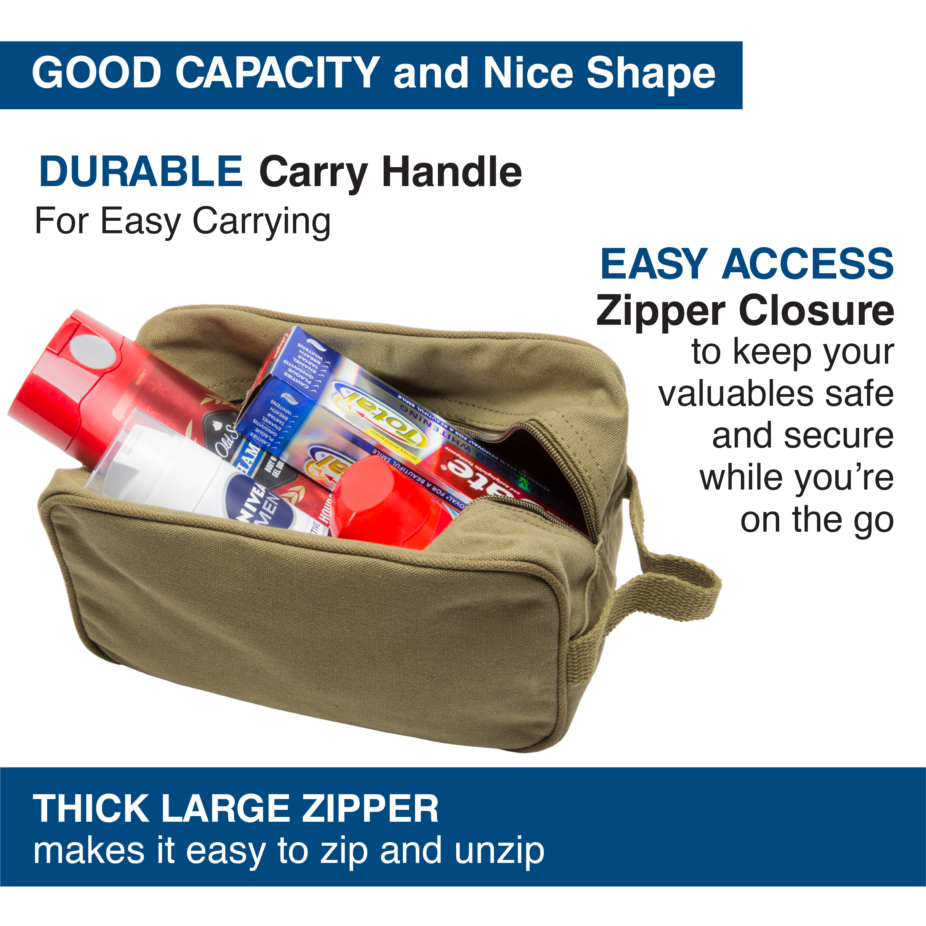 Ruger-Firearms-Canvas-Shower-Kit-Travel-Toiletry-Bag-Case thumbnail 12