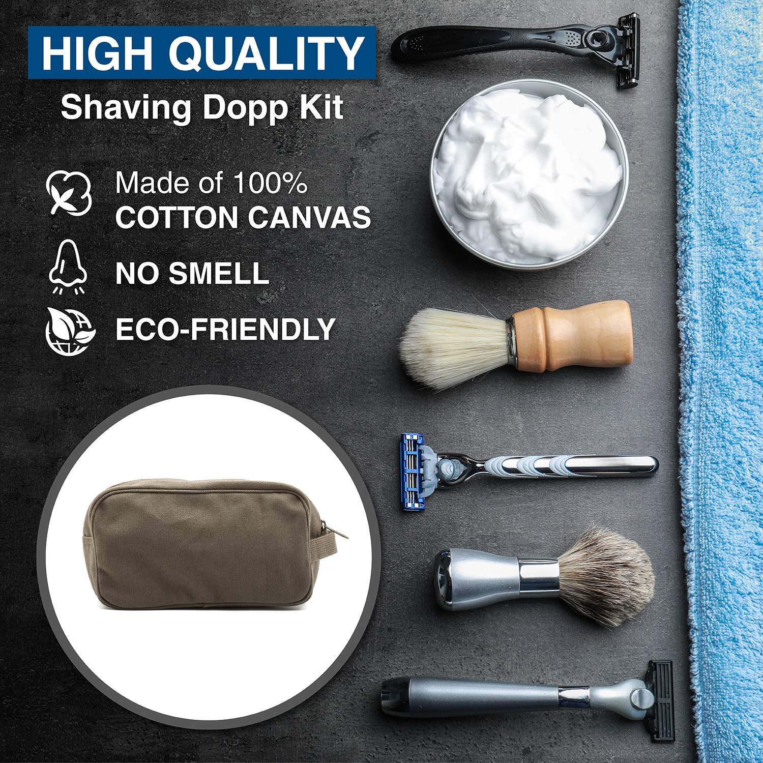 Ruger-Firearms-Canvas-Shower-Kit-Travel-Toiletry-Bag-Case thumbnail 14