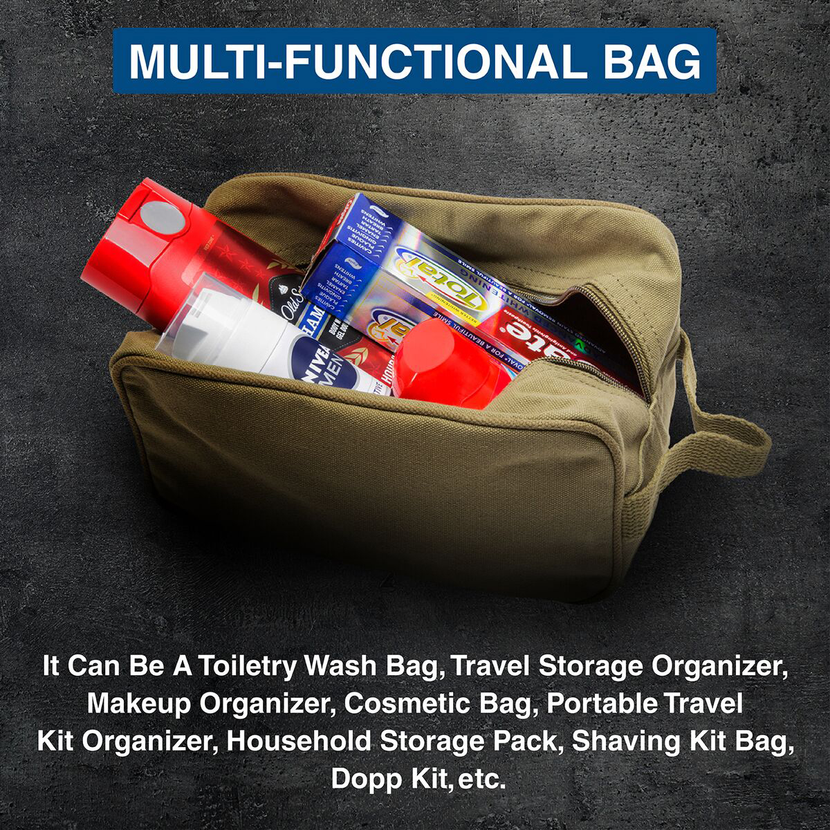 Ruger-Firearms-Canvas-Shower-Kit-Travel-Toiletry-Bag-Case thumbnail 17