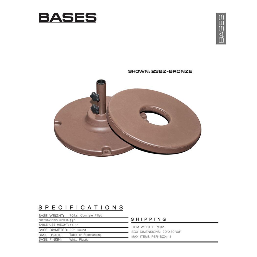 Concrete Filled Resin 70 Lbs Patio Market Umbrella Base Ebay