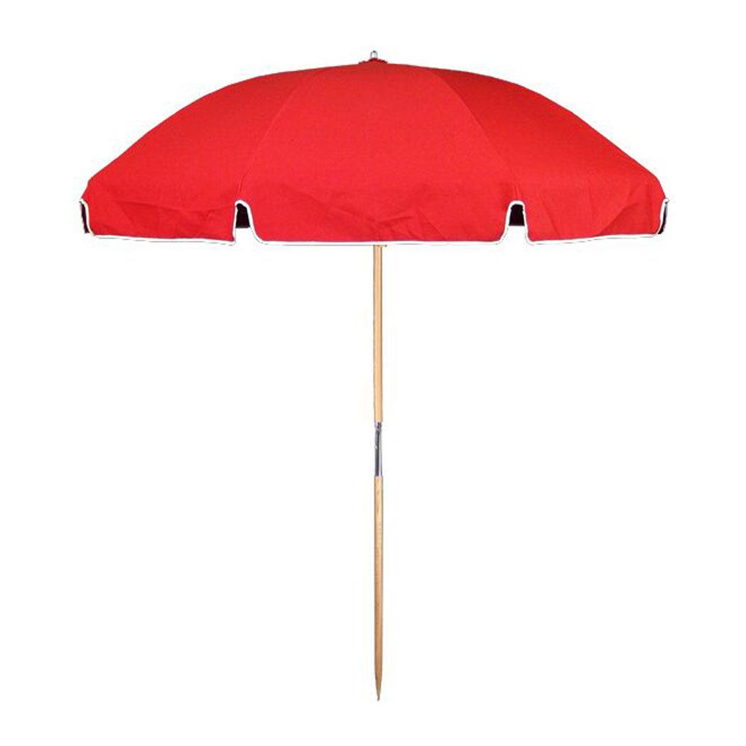 Beach Umbrella: 7.5 Ft. Steel Commercial Grade Beach Umbrella, Ash Wood