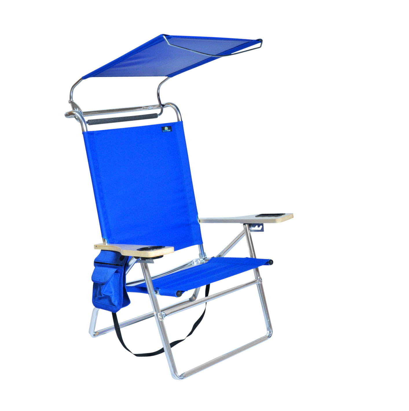 Deluxe 4 Position Aluminum Beach Chair W Canopy Amp Storage
