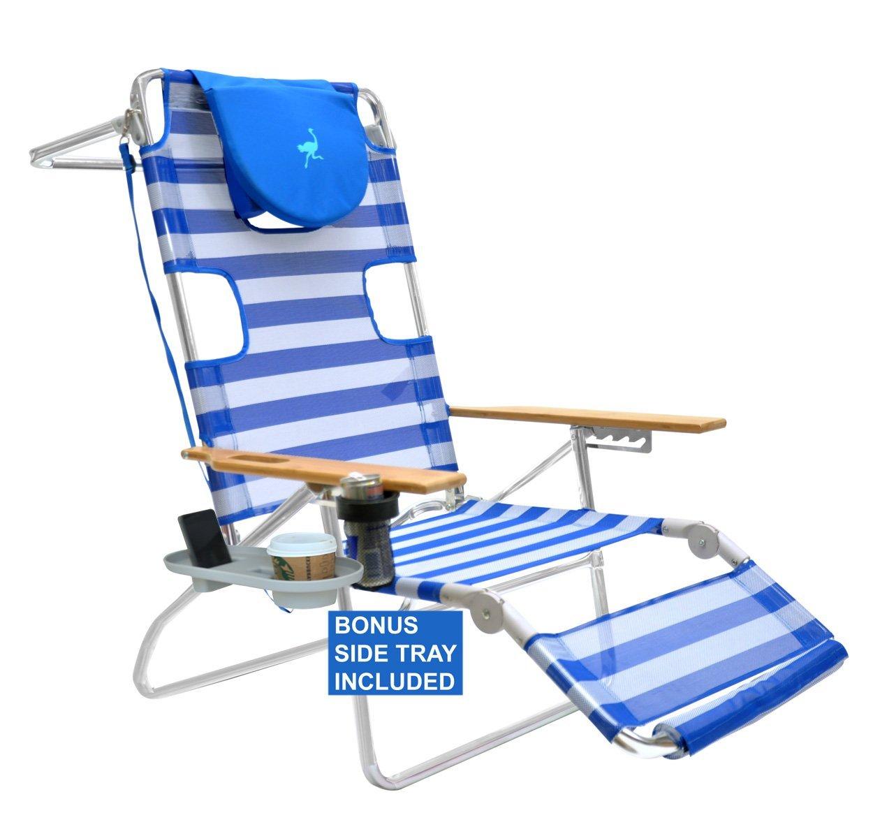 Beau Ostrich 3 N 1 Beach Chair Lounger Chaise