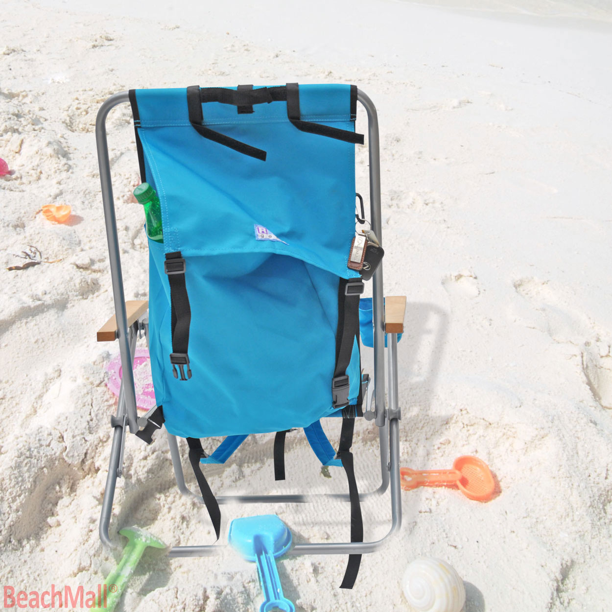 Set Of 2 Steel Rio Backpack Beach Chair Camping Chair With 6 Ft
