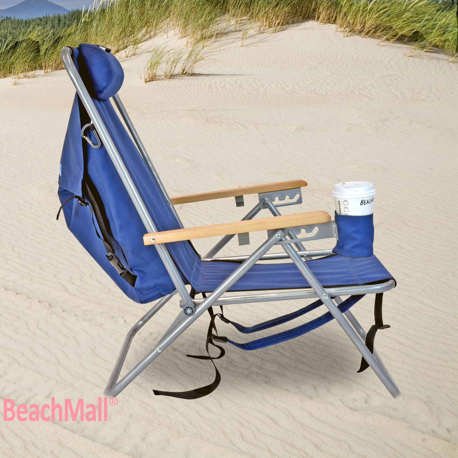 Deluxe Steel Backpack Chair Beach / C&ing with Storage Pouch - Set of 2 Chairs 762770607987 | eBay  sc 1 st  eBay & Deluxe Steel Backpack Chair Beach / Camping with Storage Pouch - Set ...