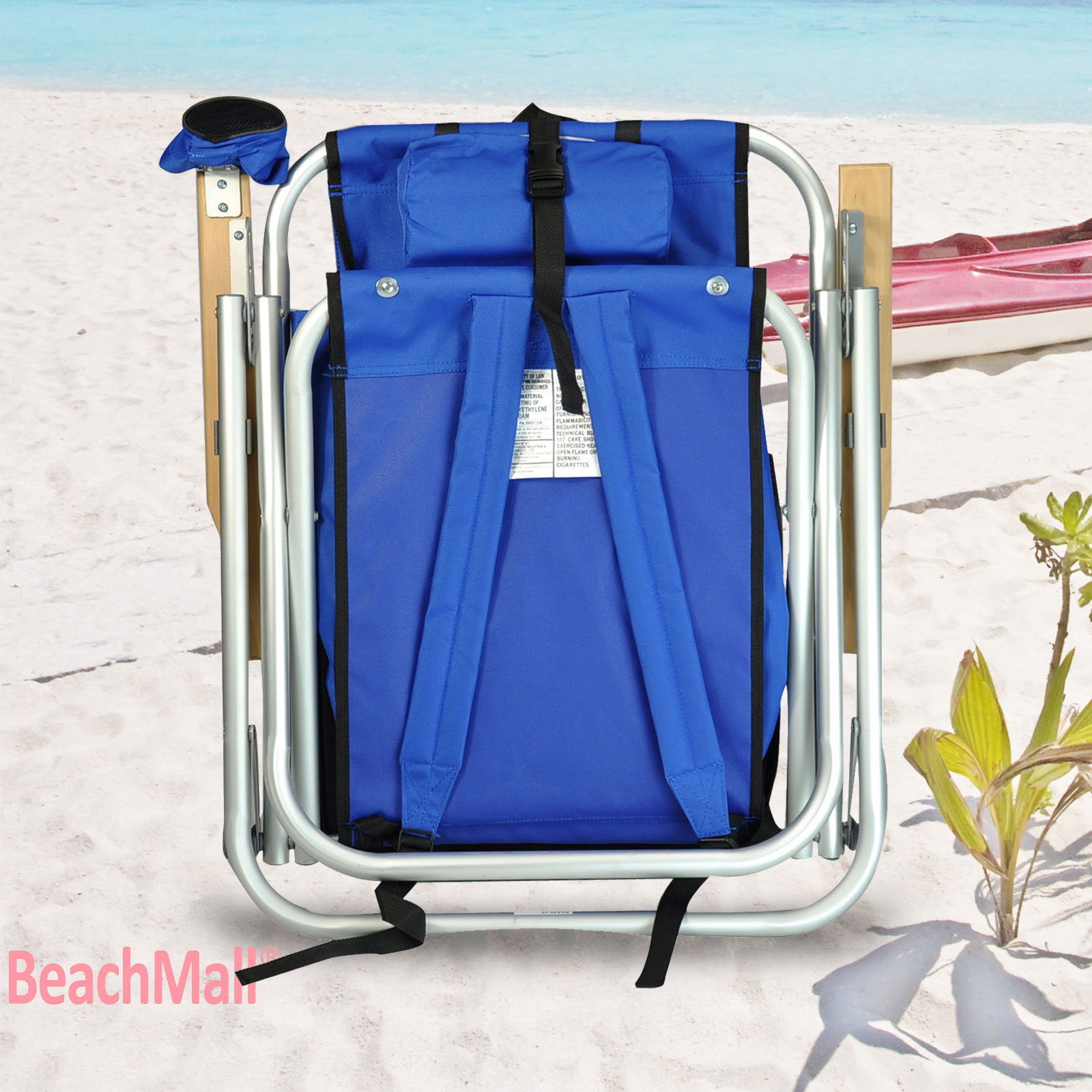 Aluminum Rio Backpack Beach Chair Camping Chair W Mesh Bag Set
