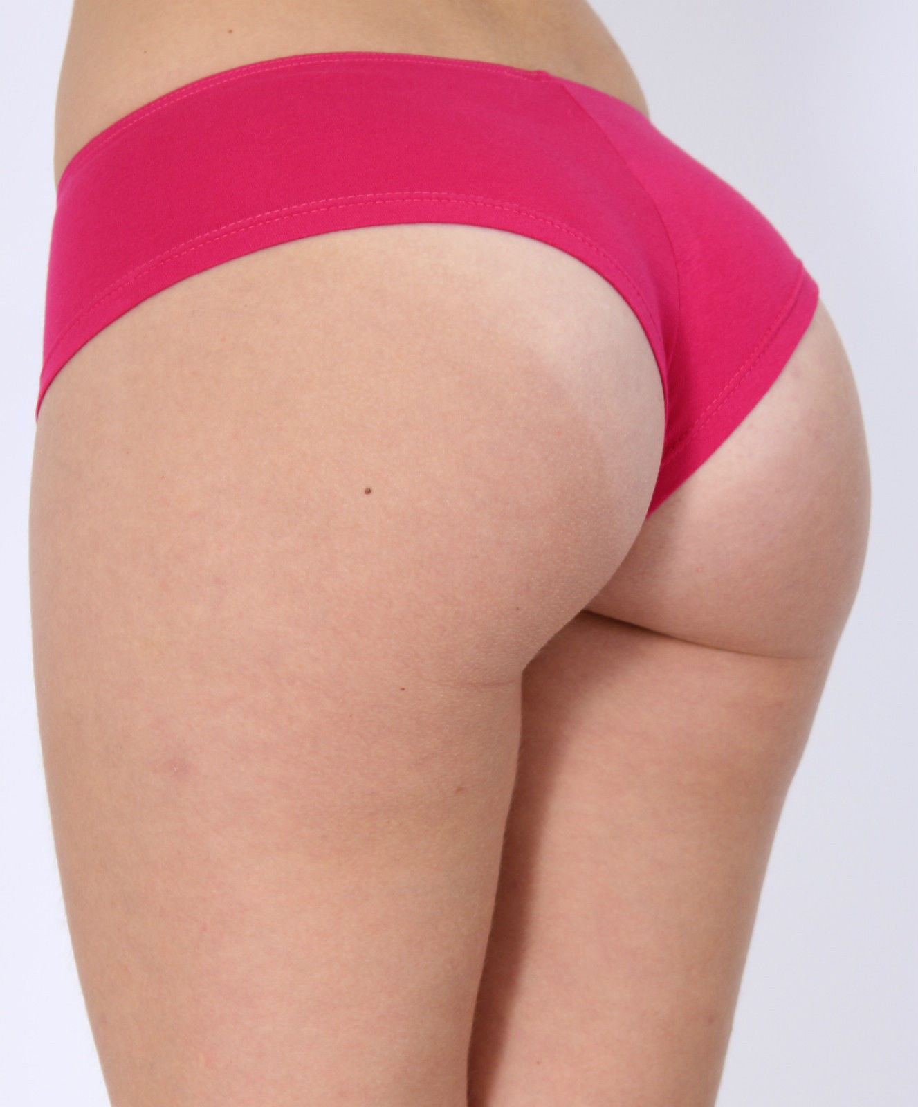 Womens Juniors Basic Cotton Booty Boy Shorts Plain -8124