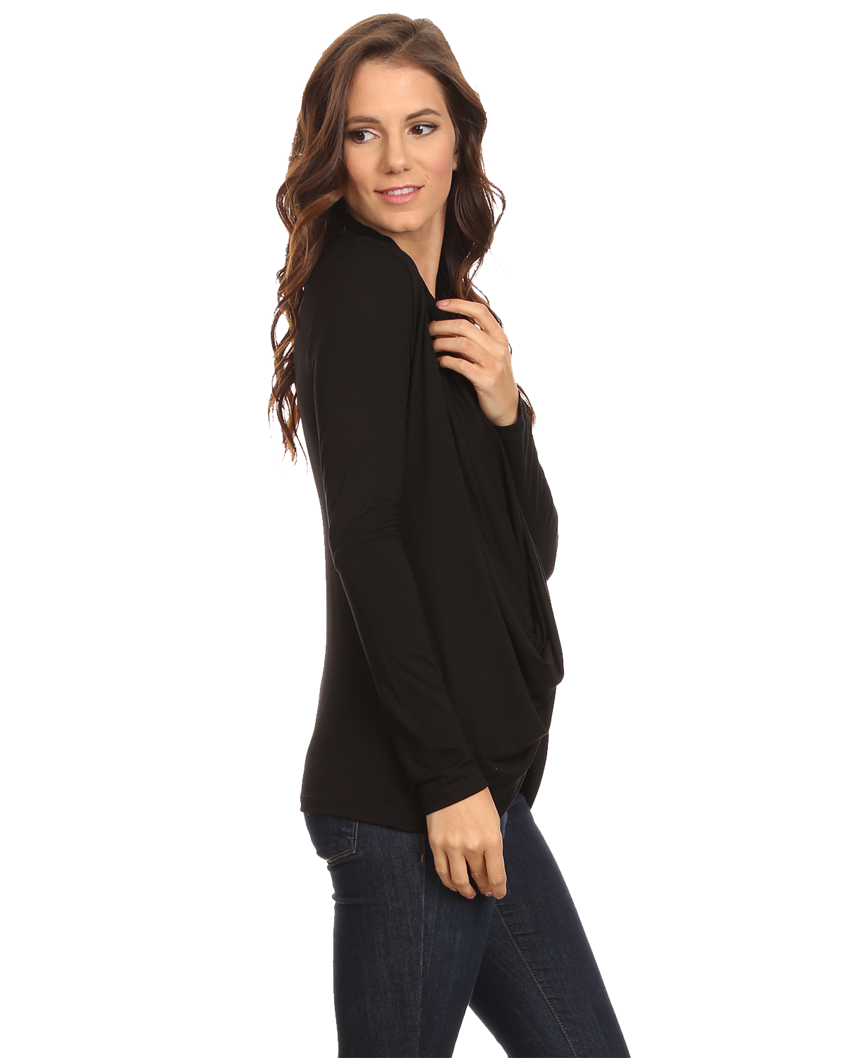 2145dfe3835 Details about Women's Long Sleeve Criss Cross Cardigan Small to 3XL  Athleisure Made in USA