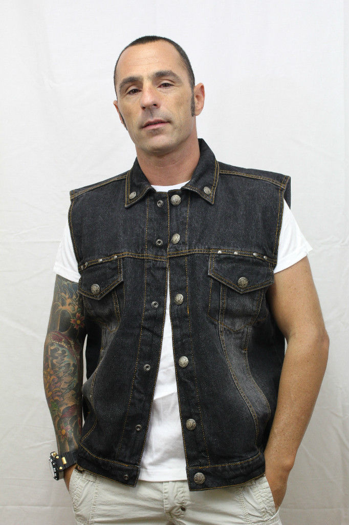 The Leather GUN vest is extremely popular with clubs, so we decided to make it into a denim biker vest also. SIZING The denim vests are sized a bit smaller than our leather vests so please make sure you check the sizing chart that is located on each vests product page.