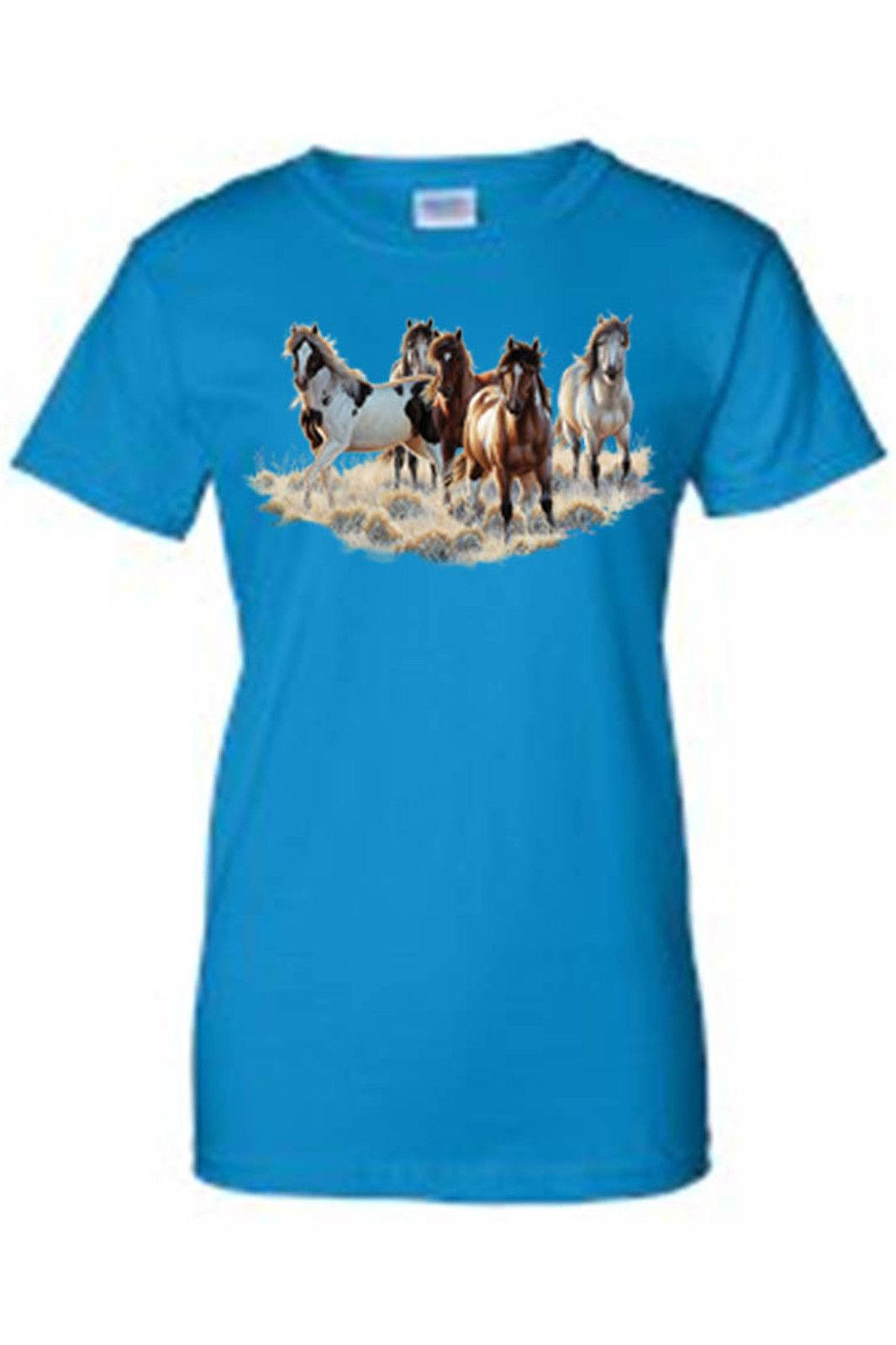 juniors t shirt pack of wild horses mustang freedom running animal american ebay. Black Bedroom Furniture Sets. Home Design Ideas