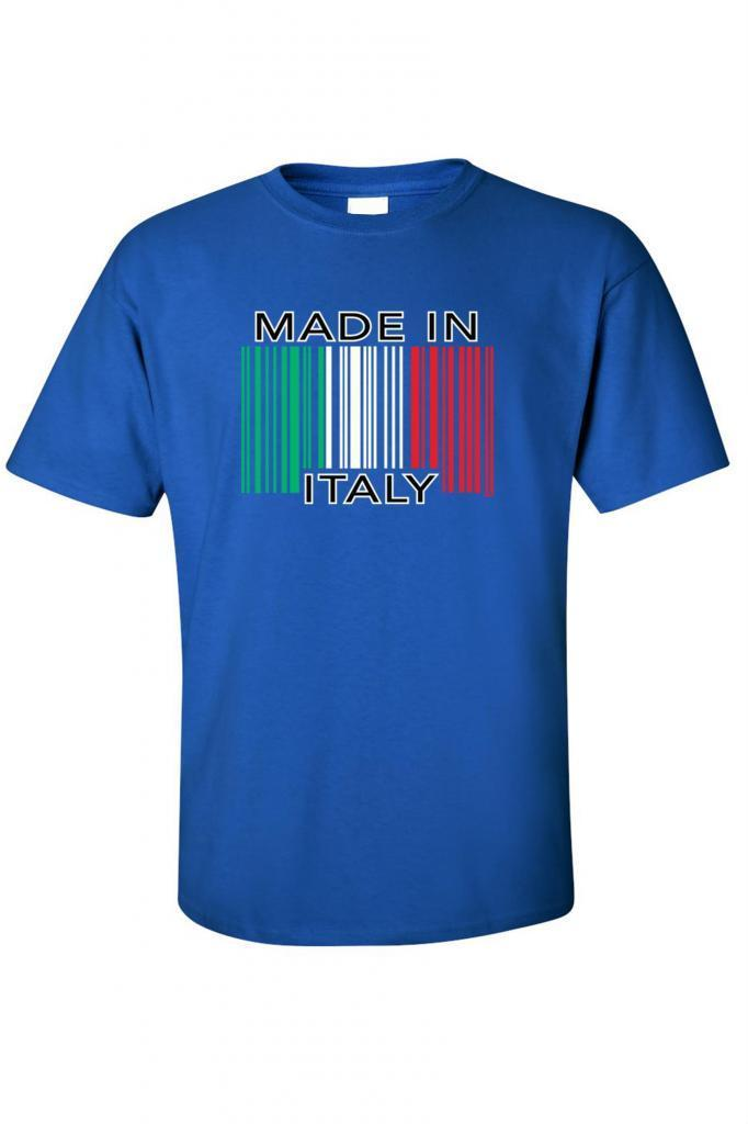 Men 39 s t shirt funny made in italy barcode italian pride for Shirts made in italy