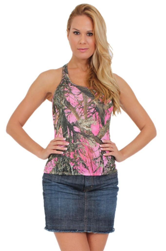 Womens Juniors Sexy Pink True Timber Camouflage Racer -6397