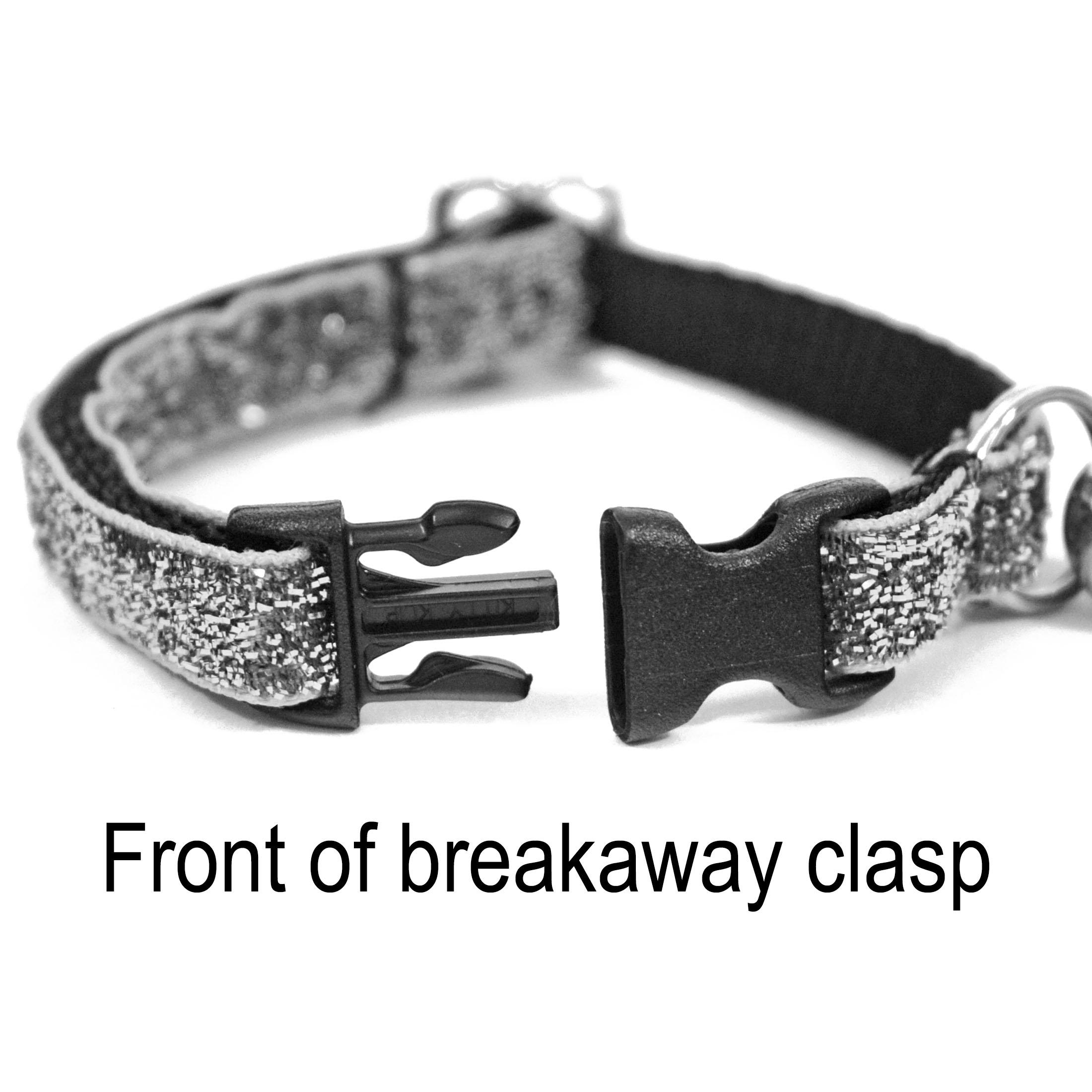 thumbnail 9 - Kitty-Kaboodle-USA-Made-Designer-Breakaway-Sparkle-Cat-Kitten-Pet-Collar-7-11-034