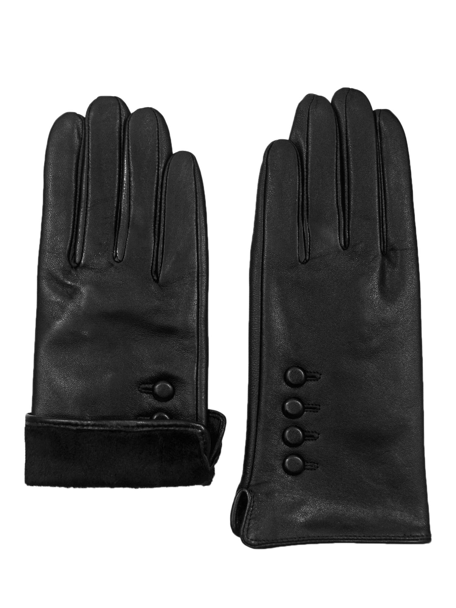 thumbnail 6 - Giromy-Samoni-Womens-Warm-Winter-Plush-Lined-Leather-Driving-Gloves-Black