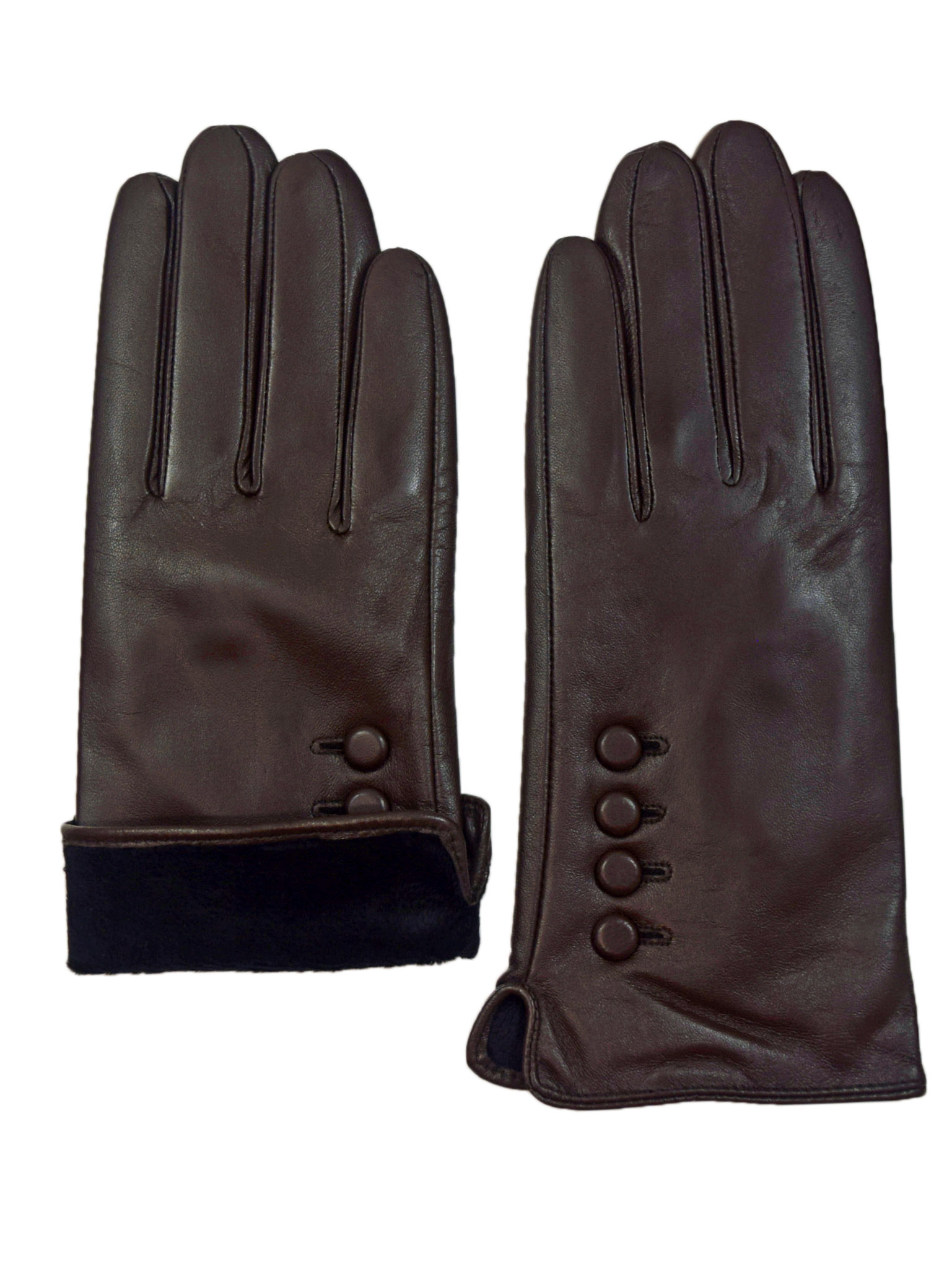 thumbnail 6 - Giromy-Samoni-Womens-Warm-Winter-Plush-Lined-Leather-Driving-Gloves-Brown
