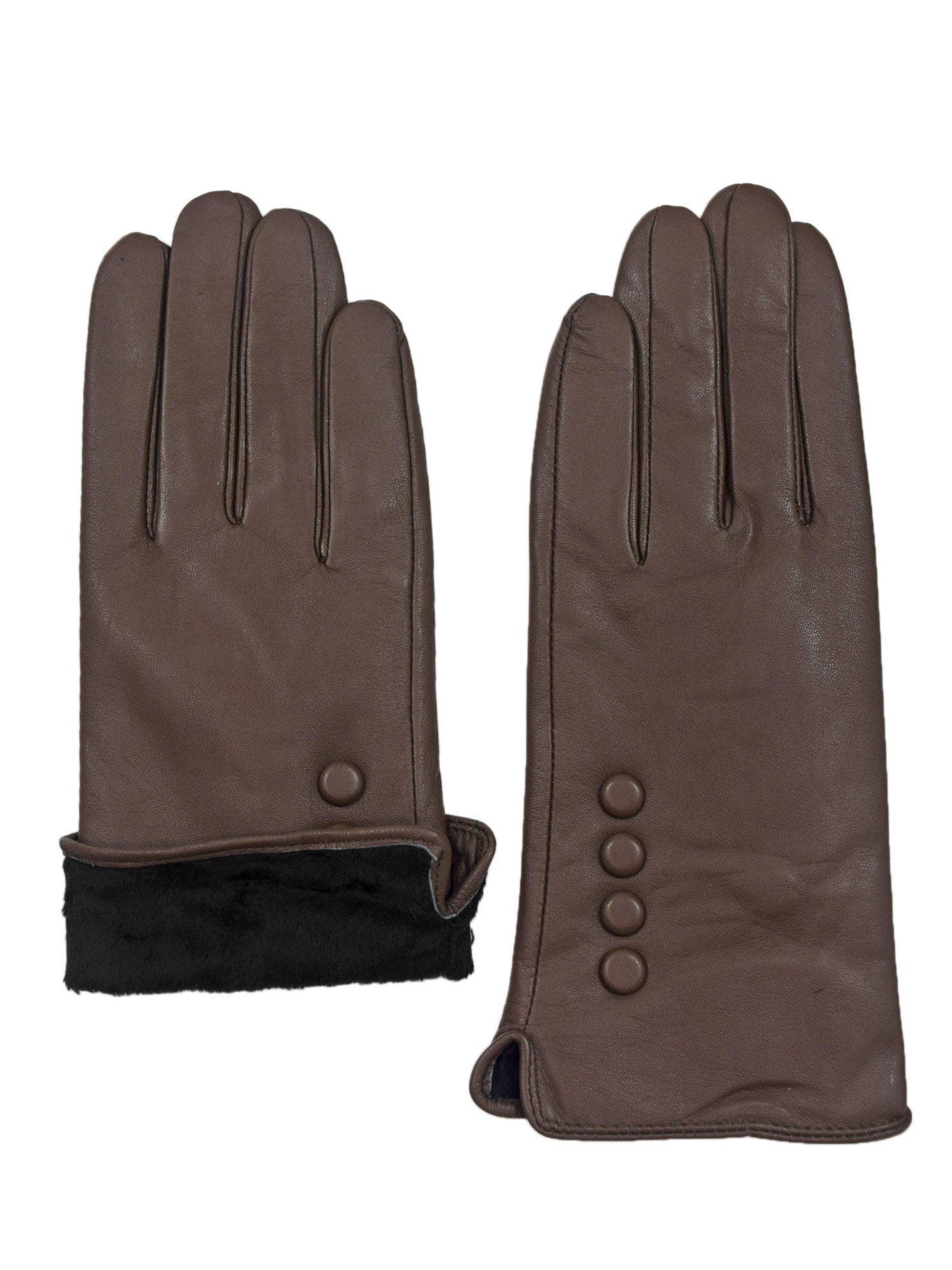 Giromy-Samoni-Womens-Warm-Winter-Plush-Lined-Leather-Driving-Gloves-Taupe thumbnail 6