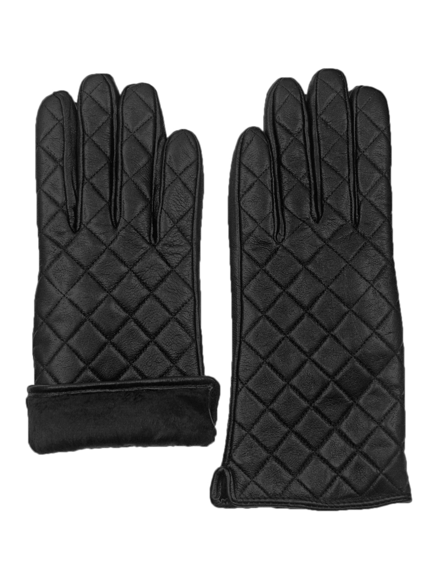 thumbnail 6 - Giromy-Samoni-Womens-Warm-Winter-Leather-Quilted-Dress-Driving-Gloves-Black