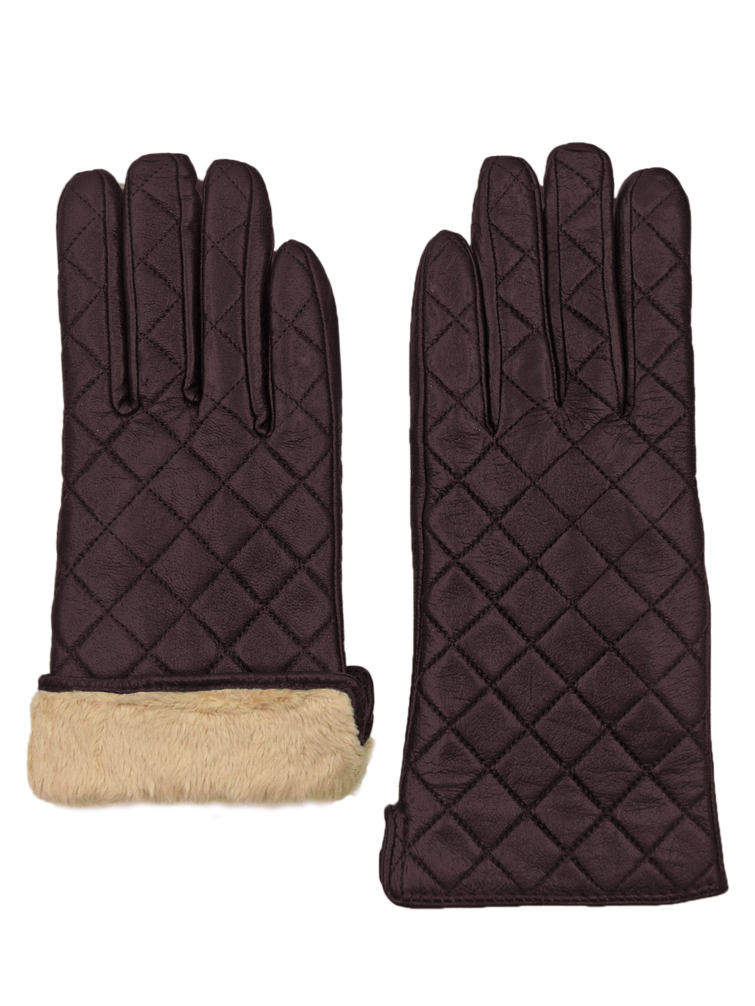 Giromy-Samoni-Womens-Warm-Winter-Leather-Quilted-Dress-Driving-Gloves-Brown thumbnail 6
