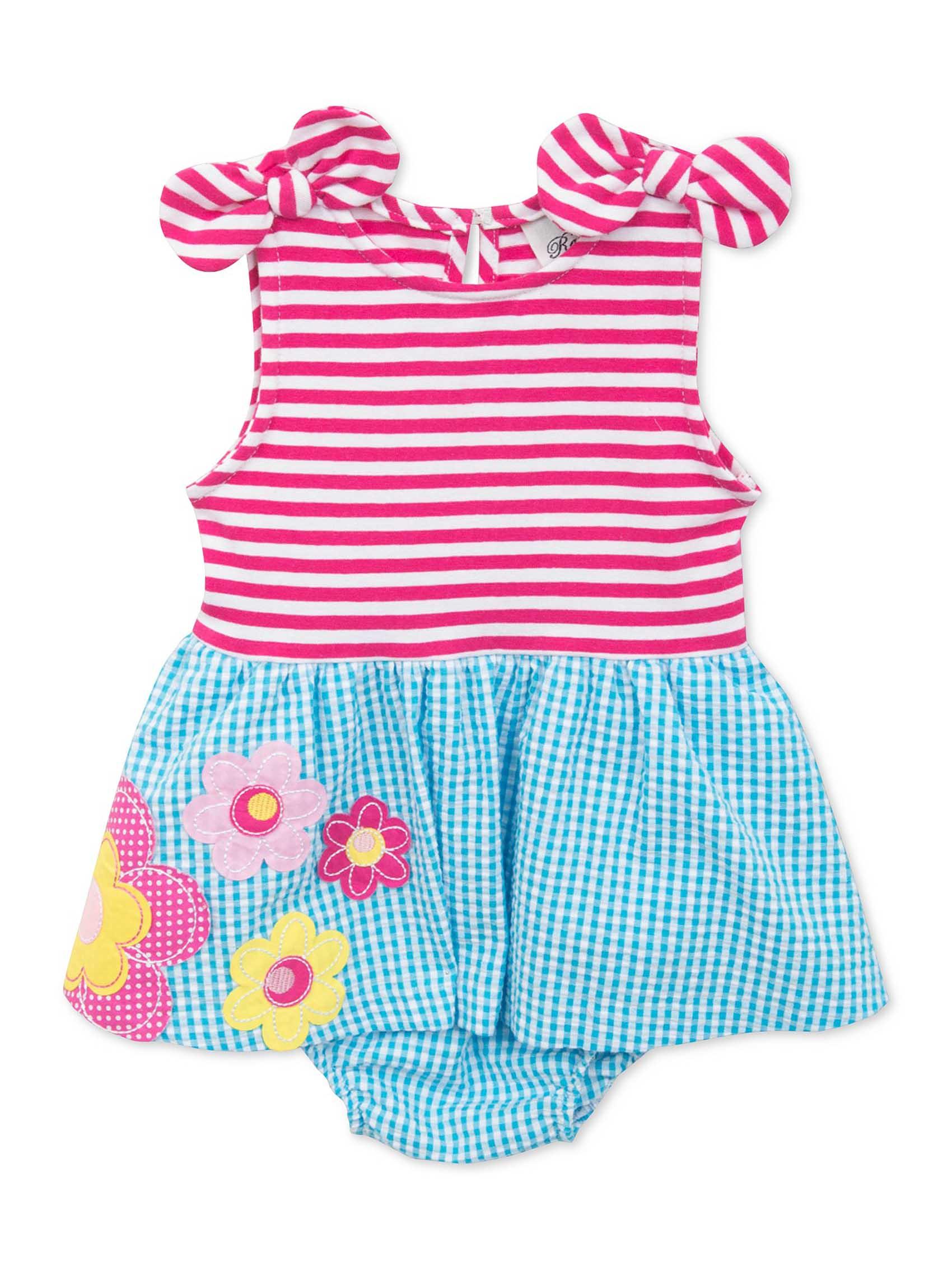 2479e3bf10f1 Rare Editions Baby Girls 2-Piece Dress & Diaper Cover Set - Mixed Print