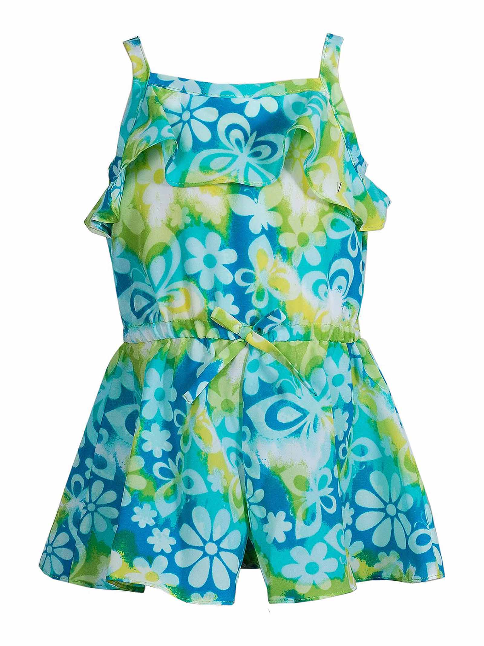 753f5d01aa1c Youngland Baby Girls Floral Tie Dye Skirted 1-Pc Sleeveless Blue ...