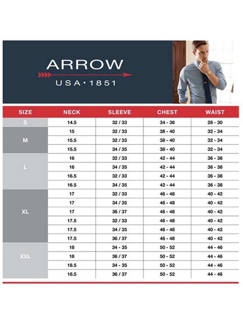 thumbnail 4 - Arrow-Mens-Long-Sleeve-Wrinkle-Free-Classic-Fit-Dress-Shirt-Orange-Fine-Striped