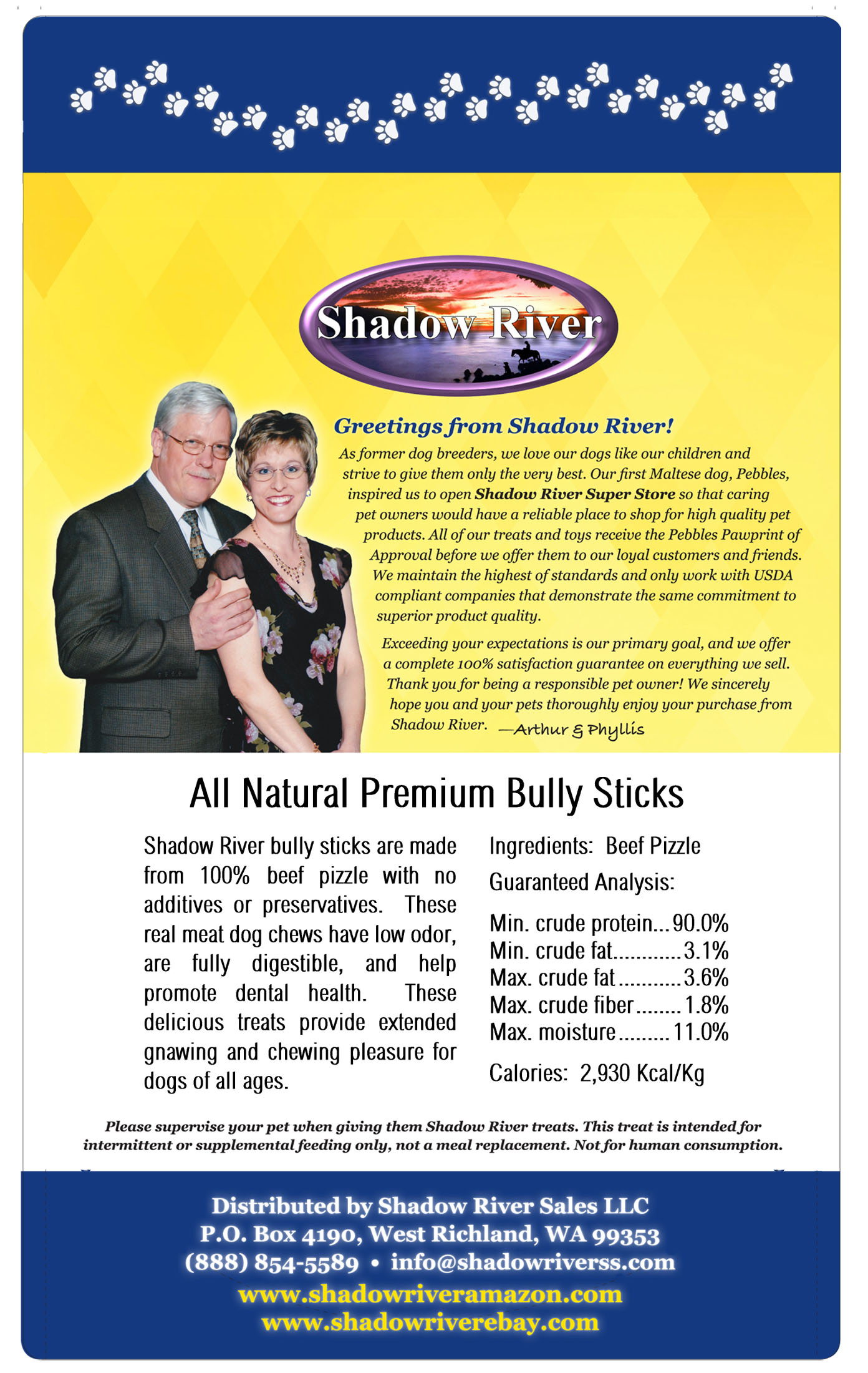 thumbnail 10 - Shadow River 12 Inch THIN All Natural Premium Beef Bully Sticks Dog Chew Treats