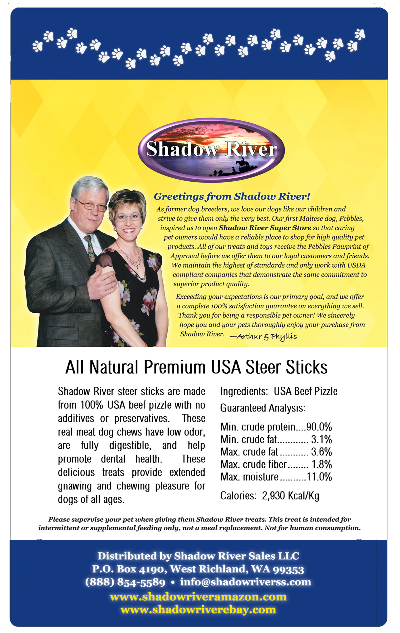 thumbnail 10 - Shadow River 6 Inch THICK Premium USA Beef STEER Bully Sticks Dog Chew Treats