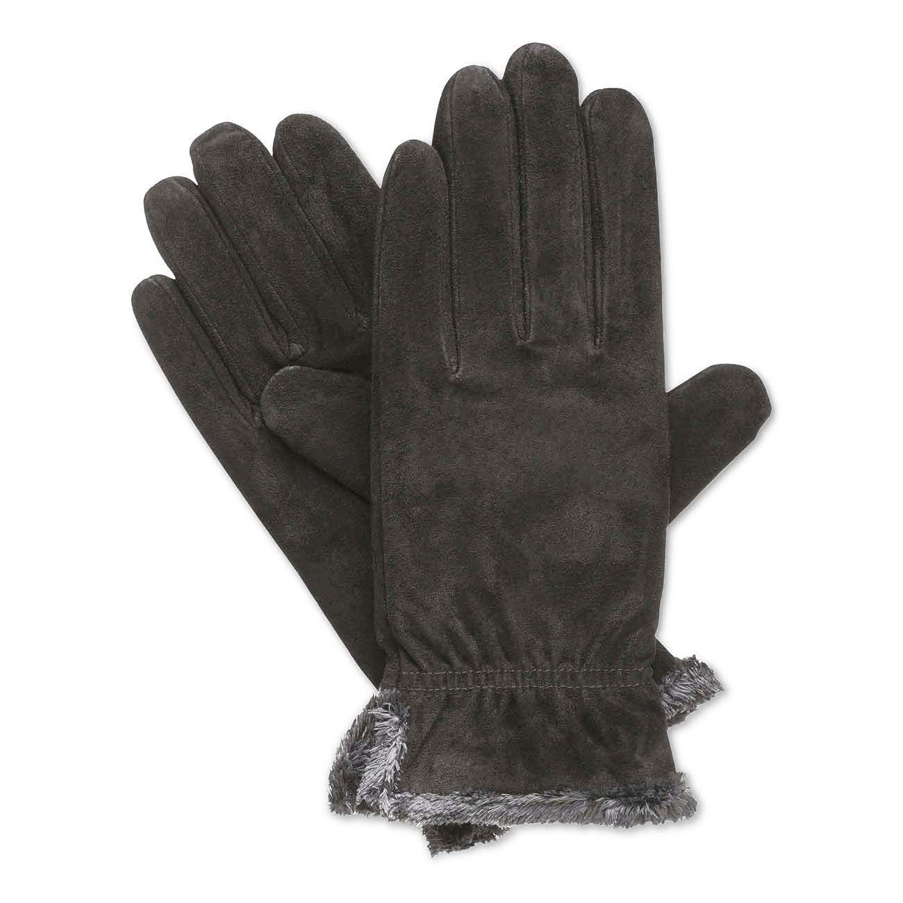 Womens black leather gloves medium - Picture 4 Of 12