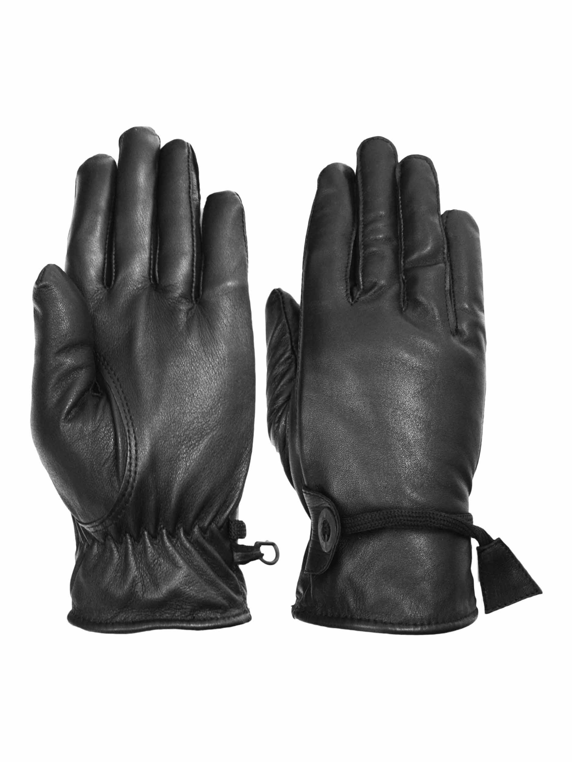 Vance-Leathers-Women-039-s-Premium-Lined-Motorcycle-Riding-Gloves-Black
