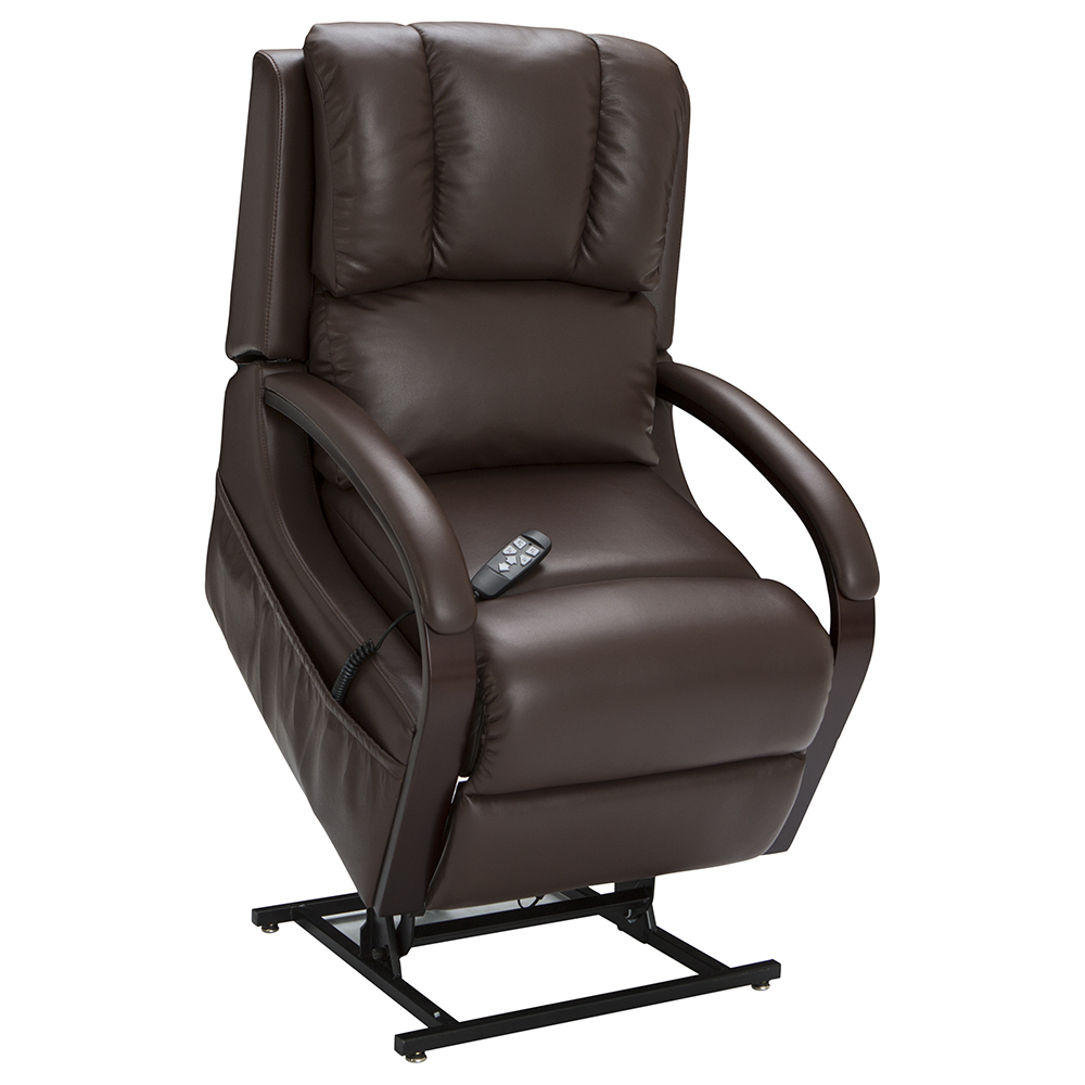 Seatcraft sherwood brown lift recliner power recline for Recliner lift chair