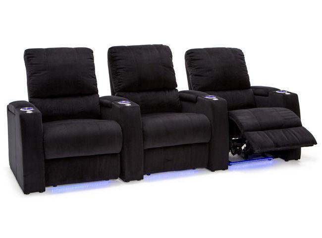 Seatcraft Aspen Bella Fabric Home Theater Seating Power