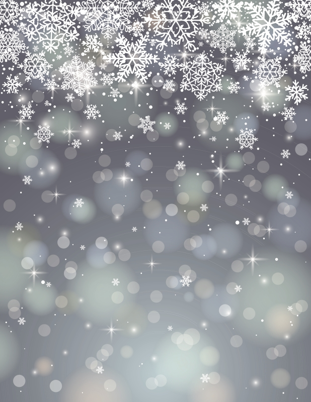 3x5ft 5x7ft Snow Christmas Glitter Backdrop Photography