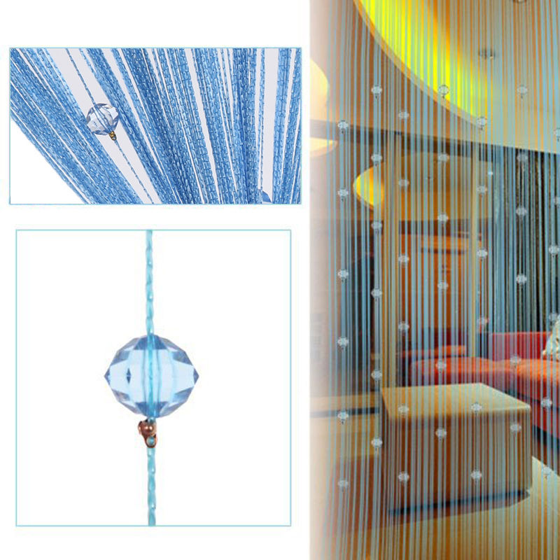 Beauty String Tassel Curtain Crystal Beads Door Window