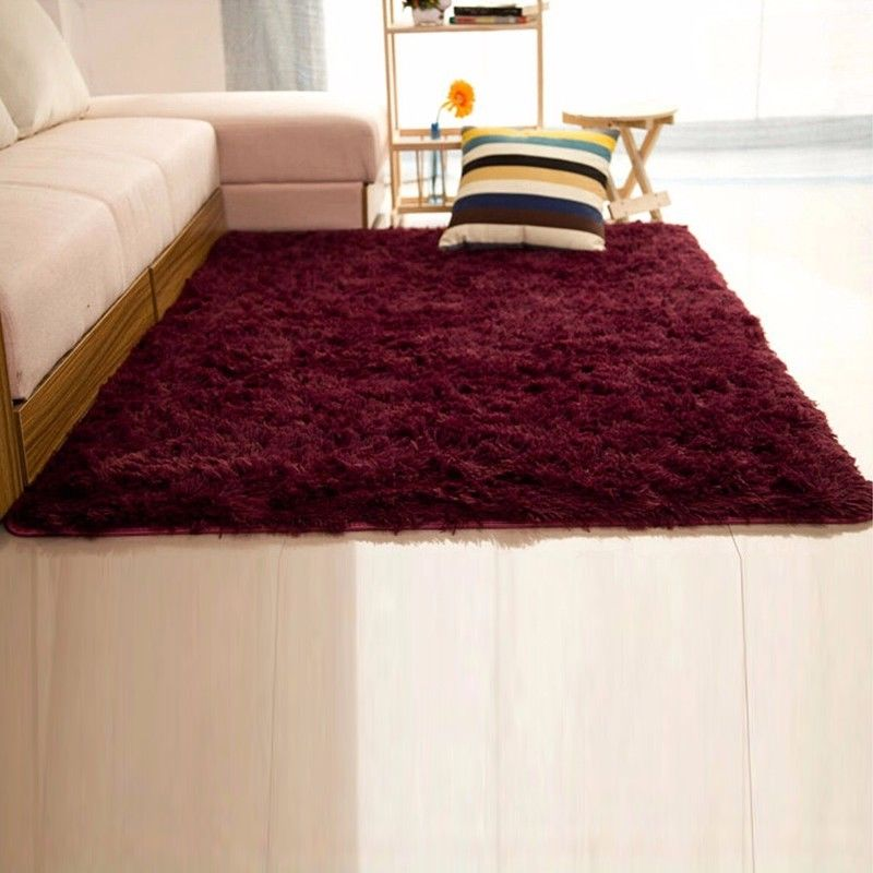 Shaggy Fluffy Rugs Anti Skid Area Rug Dining