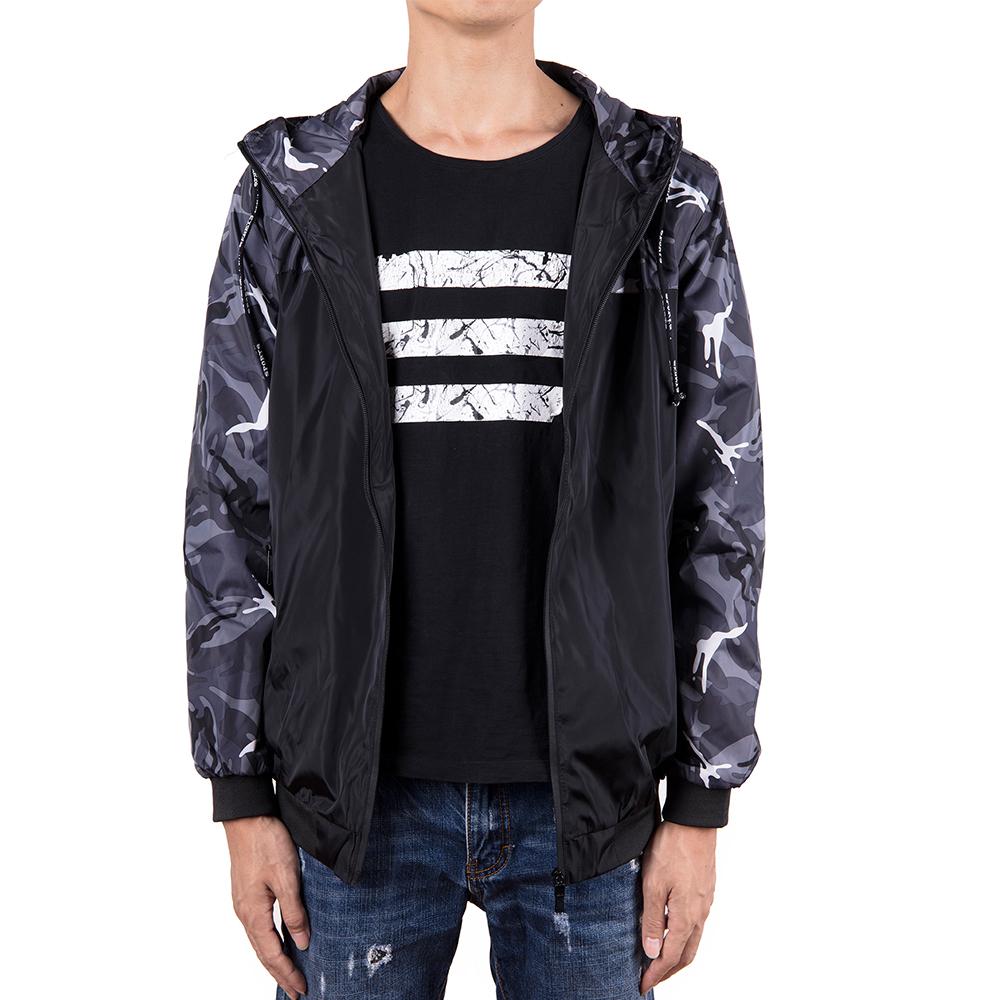 Men-039-s-Waterproof-Windbreaker-ZIPPER-Jacket-Hoodie-Light-Sports-Outwear-Coat-Gym thumbnail 8