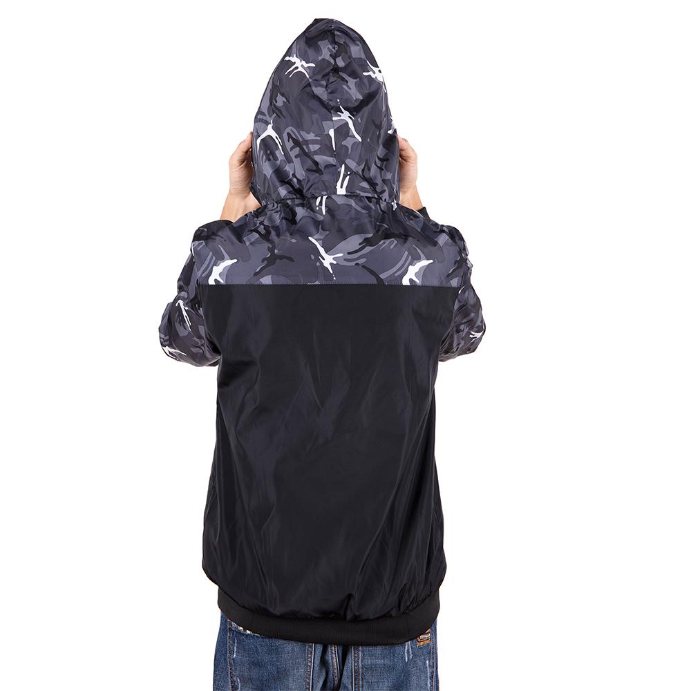 Men-039-s-Waterproof-Windbreaker-ZIPPER-Jacket-Hoodie-Light-Sports-Outwear-Coat-Gym thumbnail 9