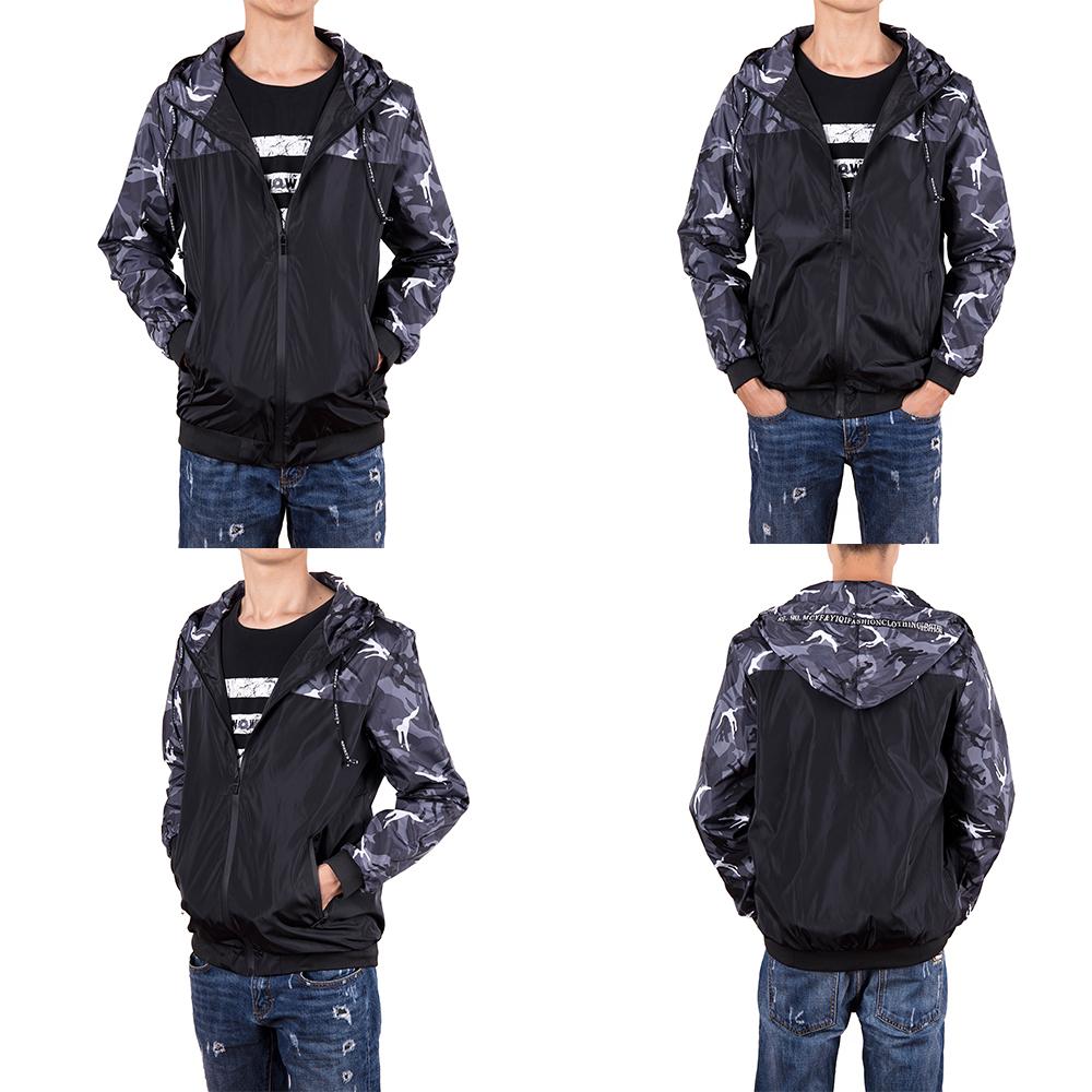 Men-039-s-Waterproof-Windbreaker-ZIPPER-Jacket-Hoodie-Light-Sports-Outwear-Coat-Gym thumbnail 10