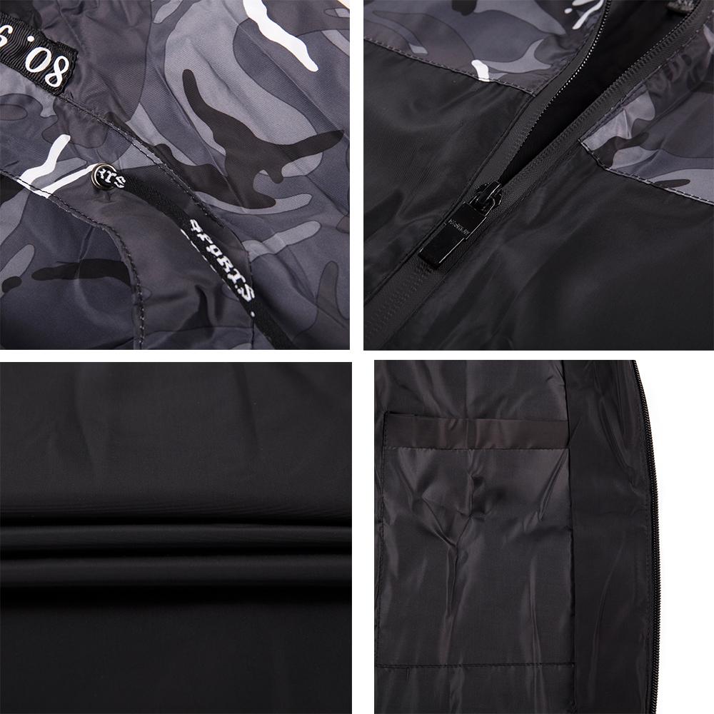 Men-039-s-Waterproof-Windbreaker-ZIPPER-Jacket-Hoodie-Light-Sports-Outwear-Coat-Gym thumbnail 11