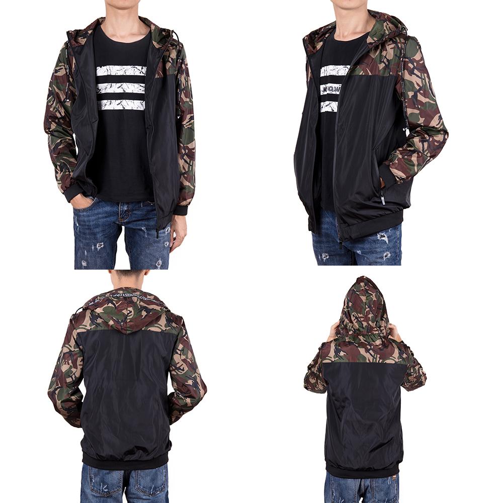 Men-039-s-Waterproof-Windbreaker-ZIPPER-Jacket-Hoodie-Light-Sports-Outwear-Coat-Gym thumbnail 13