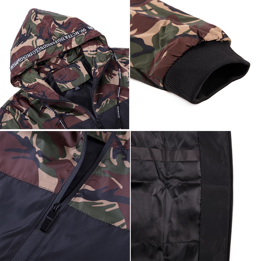 Men-039-s-Waterproof-Windbreaker-ZIPPER-Jacket-Hoodie-Light-Sports-Outwear-Coat-Gym thumbnail 14
